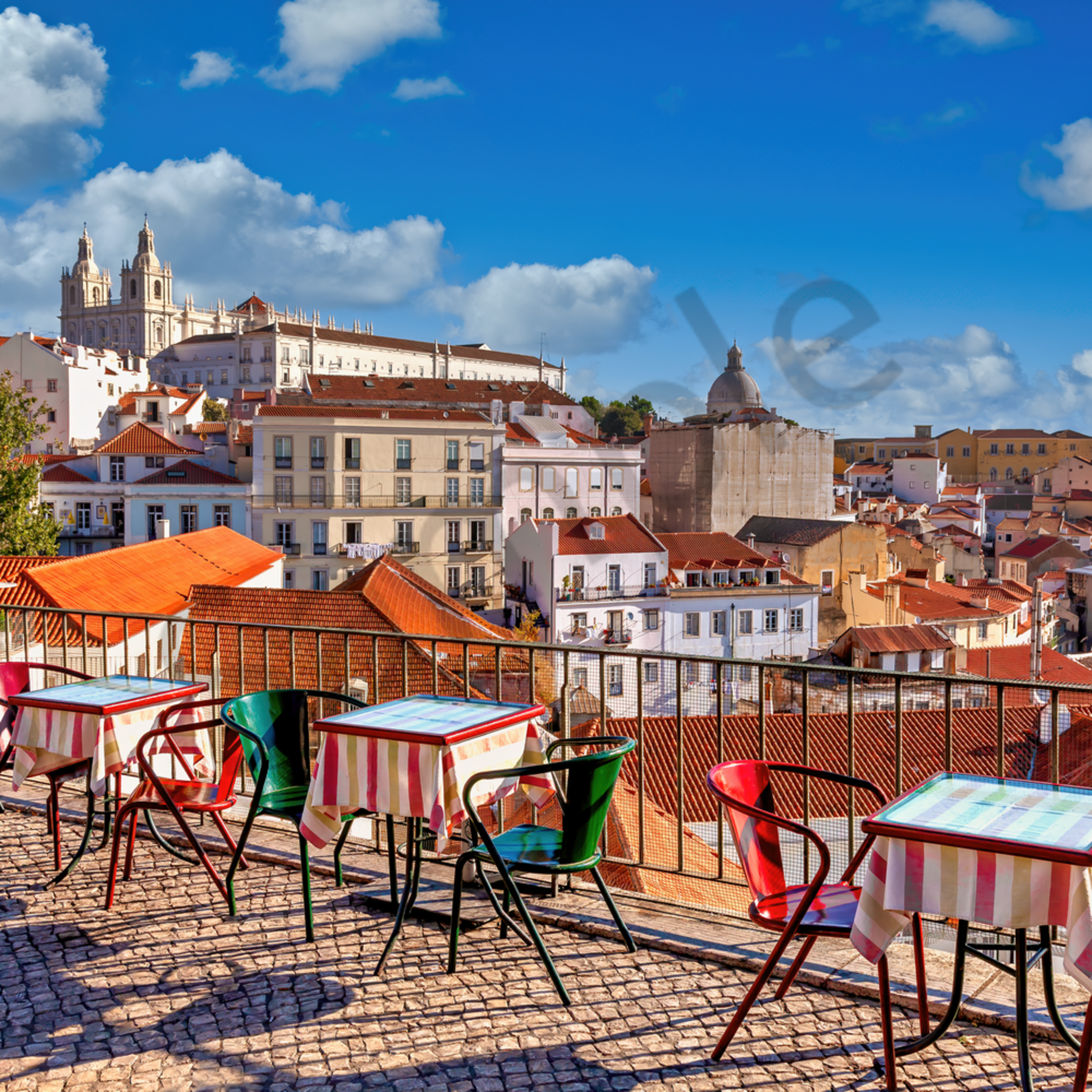 Lisbon portugal dining and overlook gln55t
