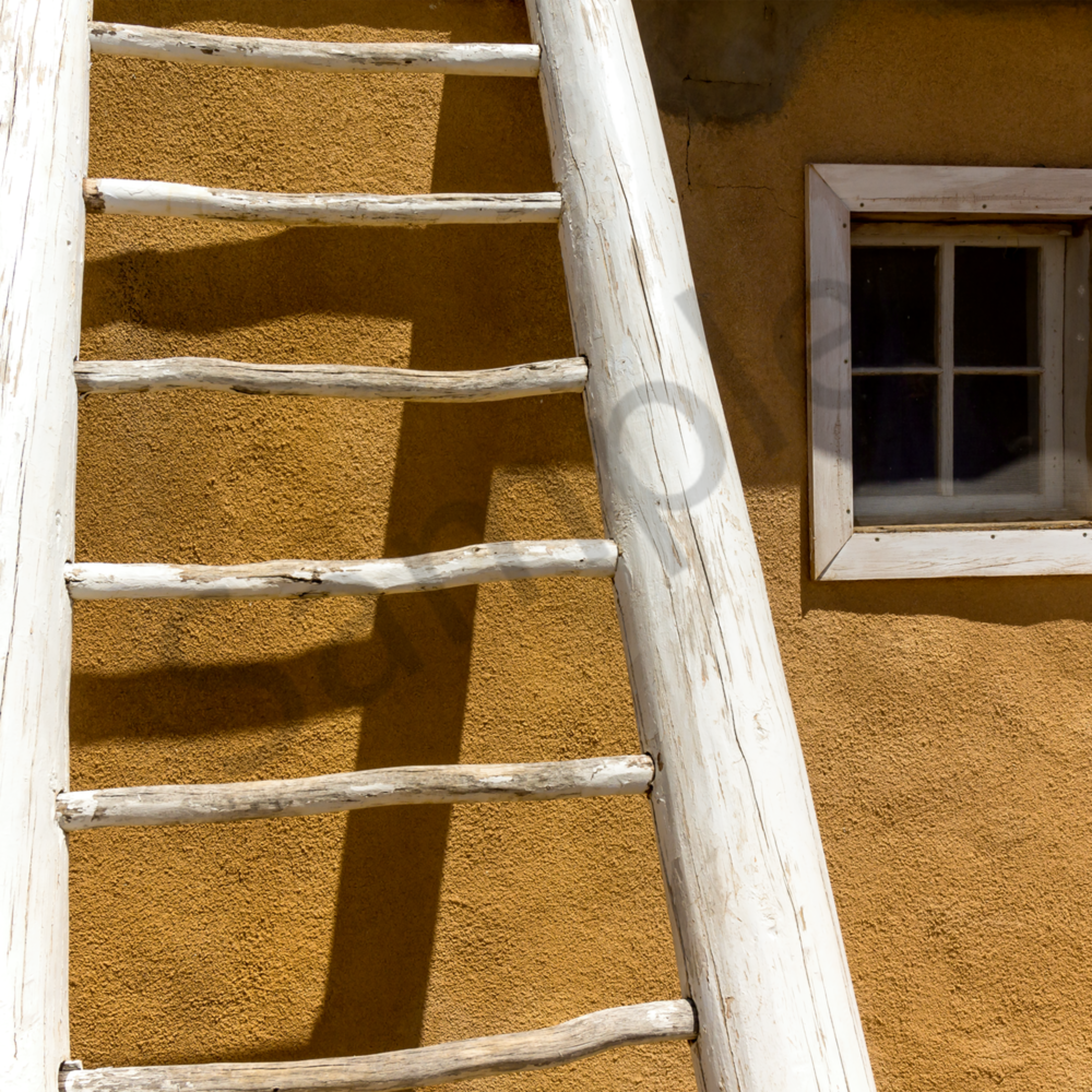 Acoma idian reservation adobe wall with ladder. new mexico ii nca5ml