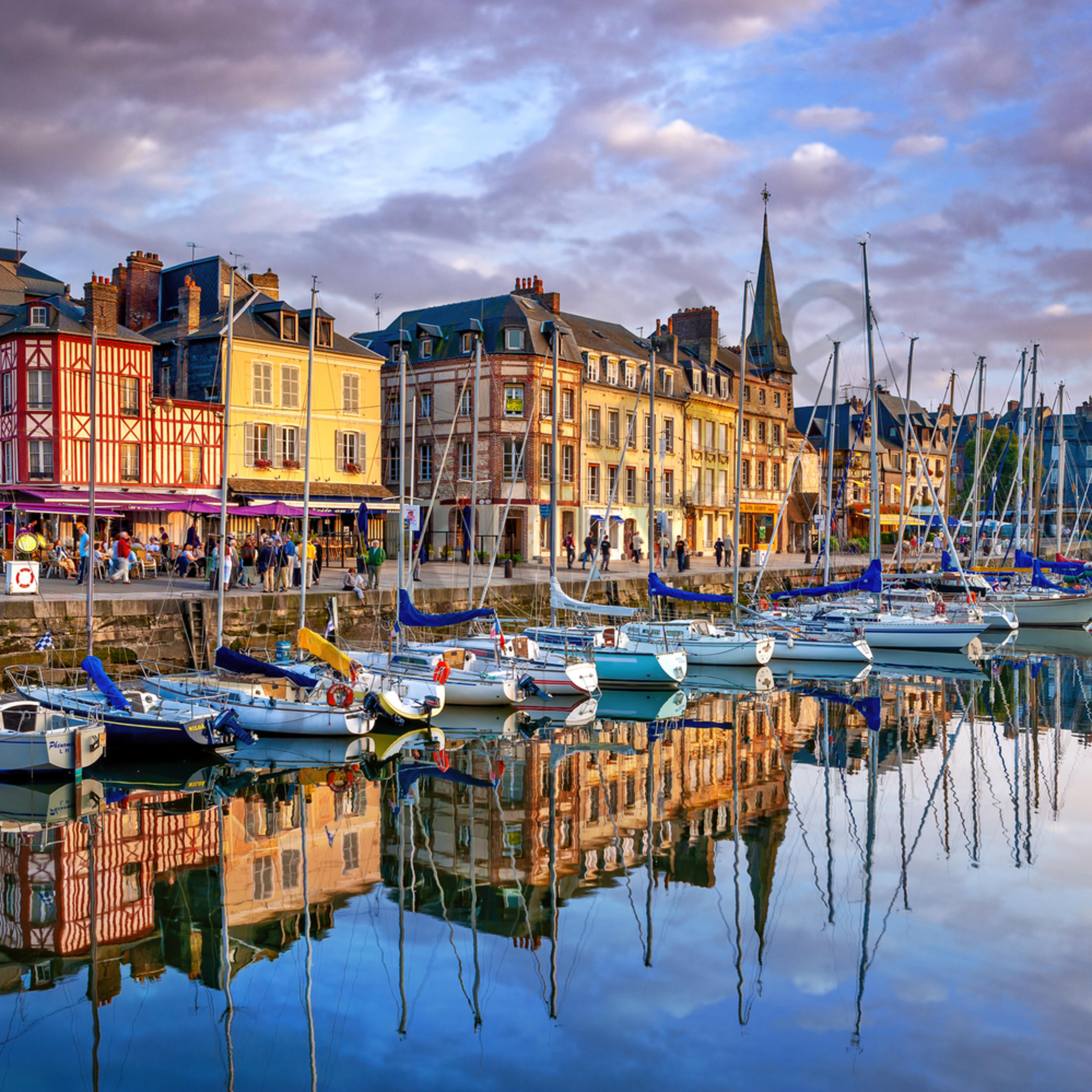Honfleur normandy france by main harbor em5pgx