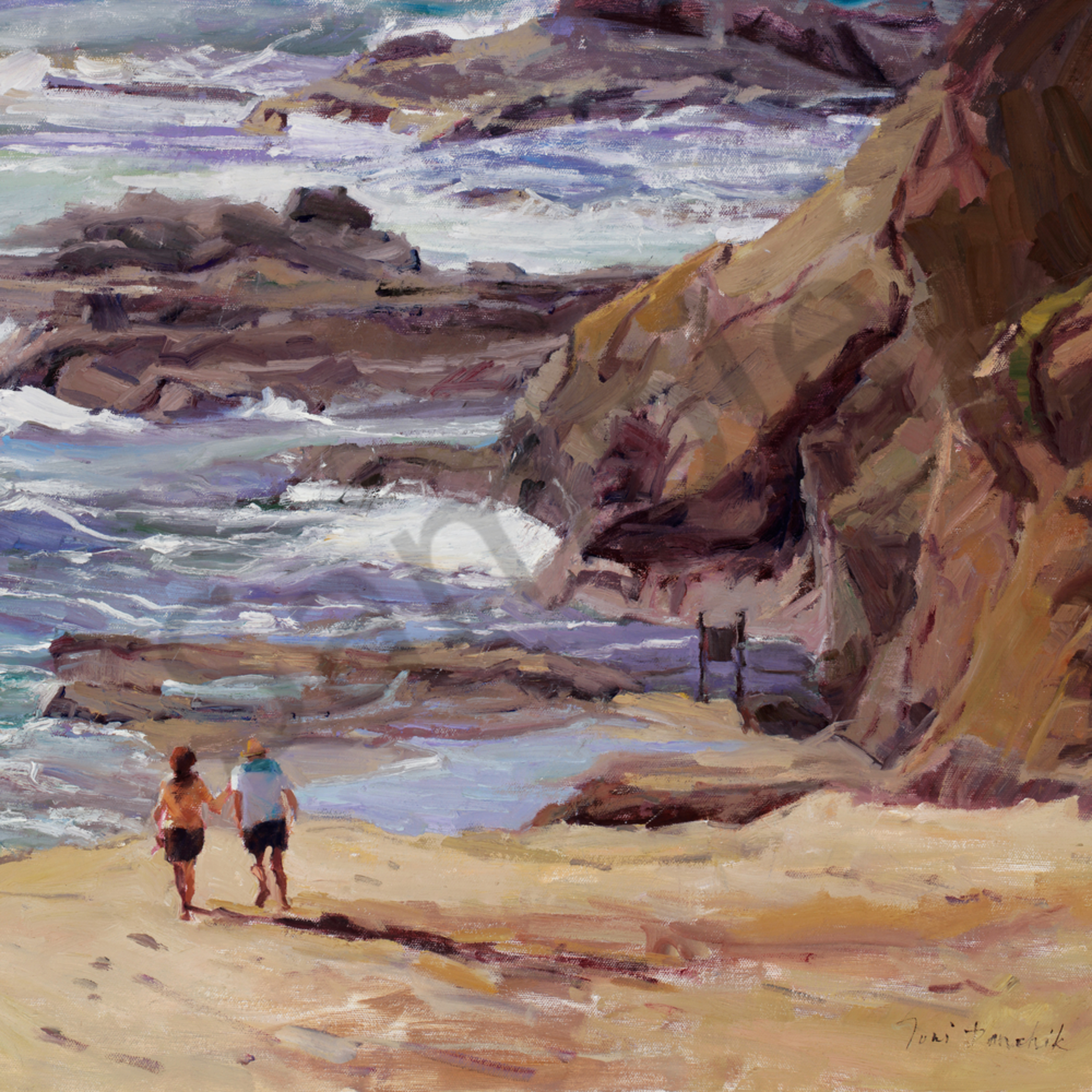 A walk on the beach treasure island 22 x 28 t2ecuy