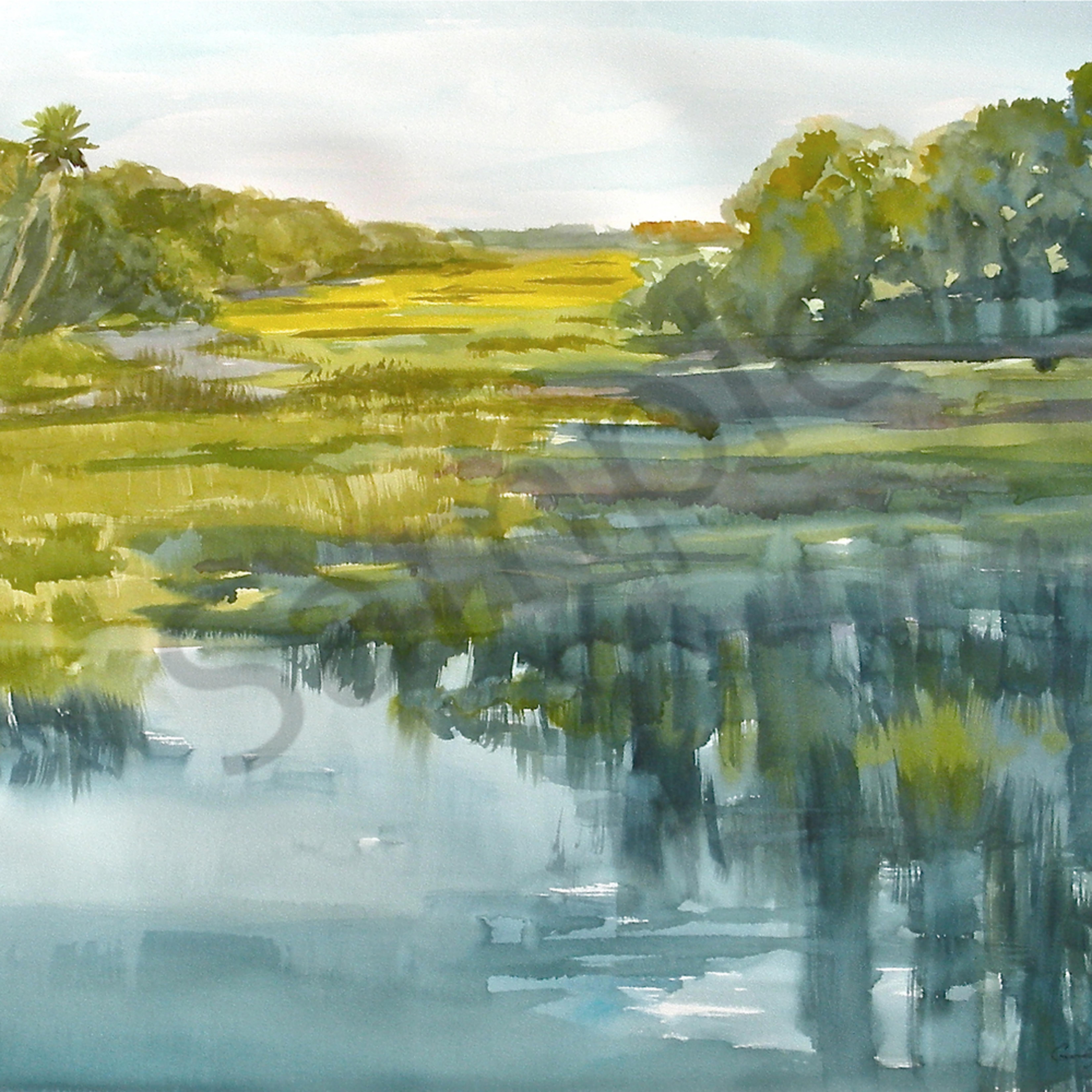 Long island marsh 22 x30 print czwuct