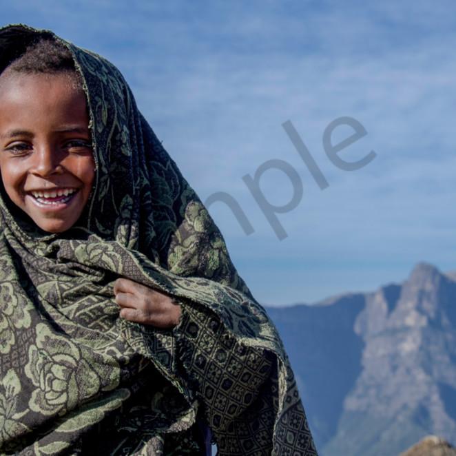 Ethiopian boy with blanket wquneh