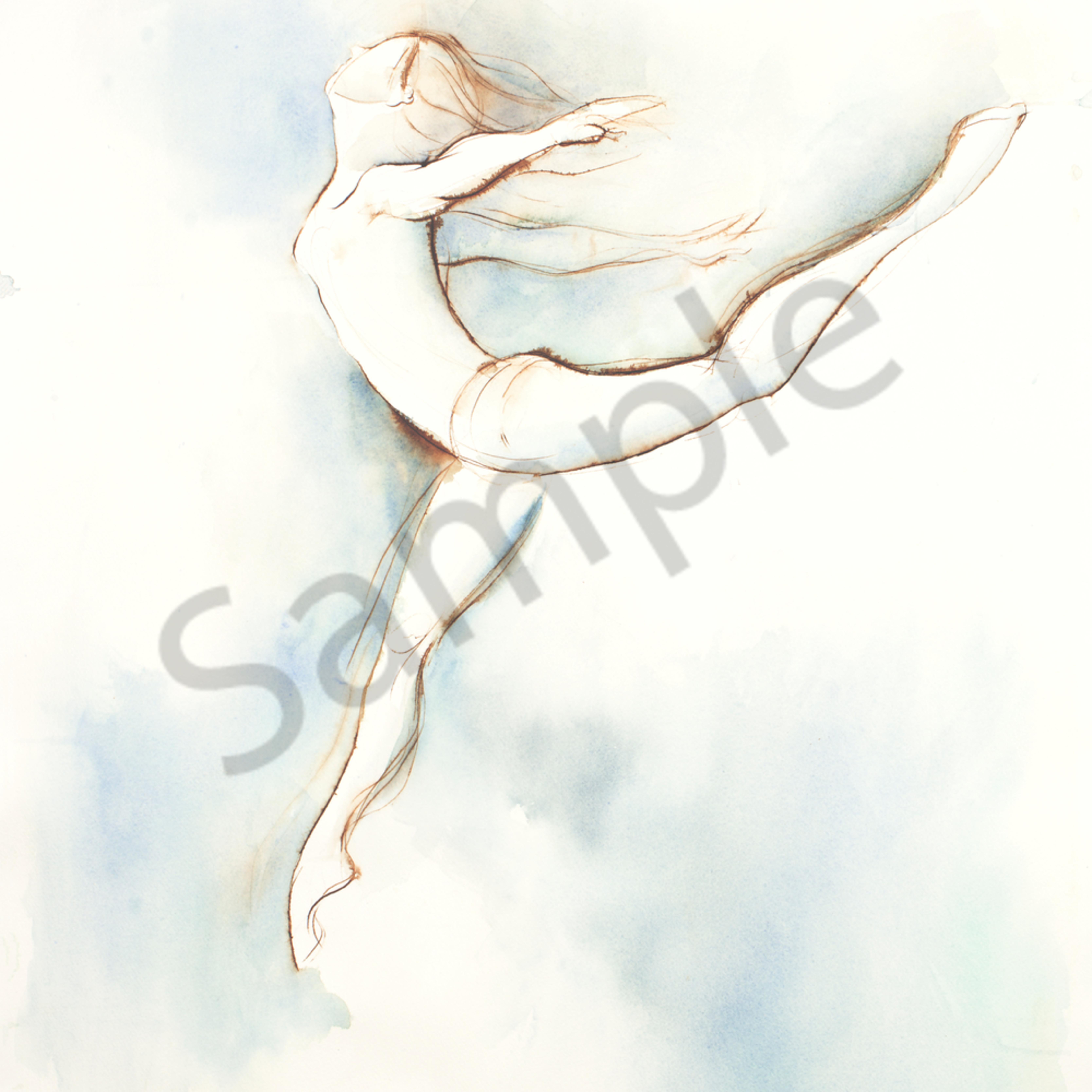 Blue brown leap print wxyzgy