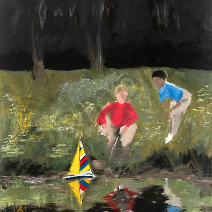 Boys with boats fddos6