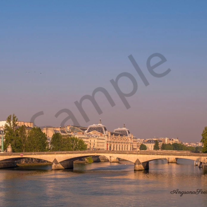 River seine golden hour with signature ehwjrm