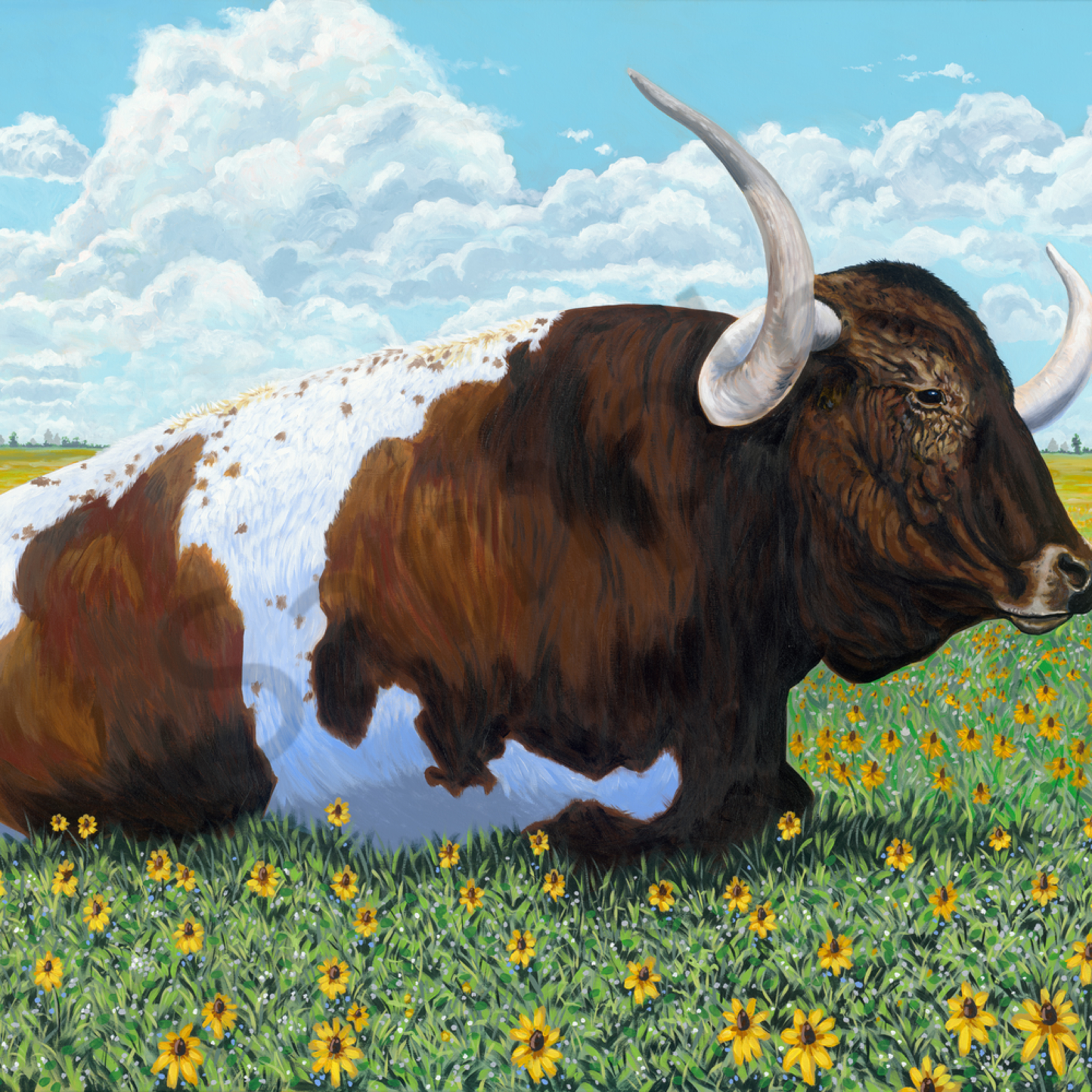 Asf big bull painting 72x48 k2dvry