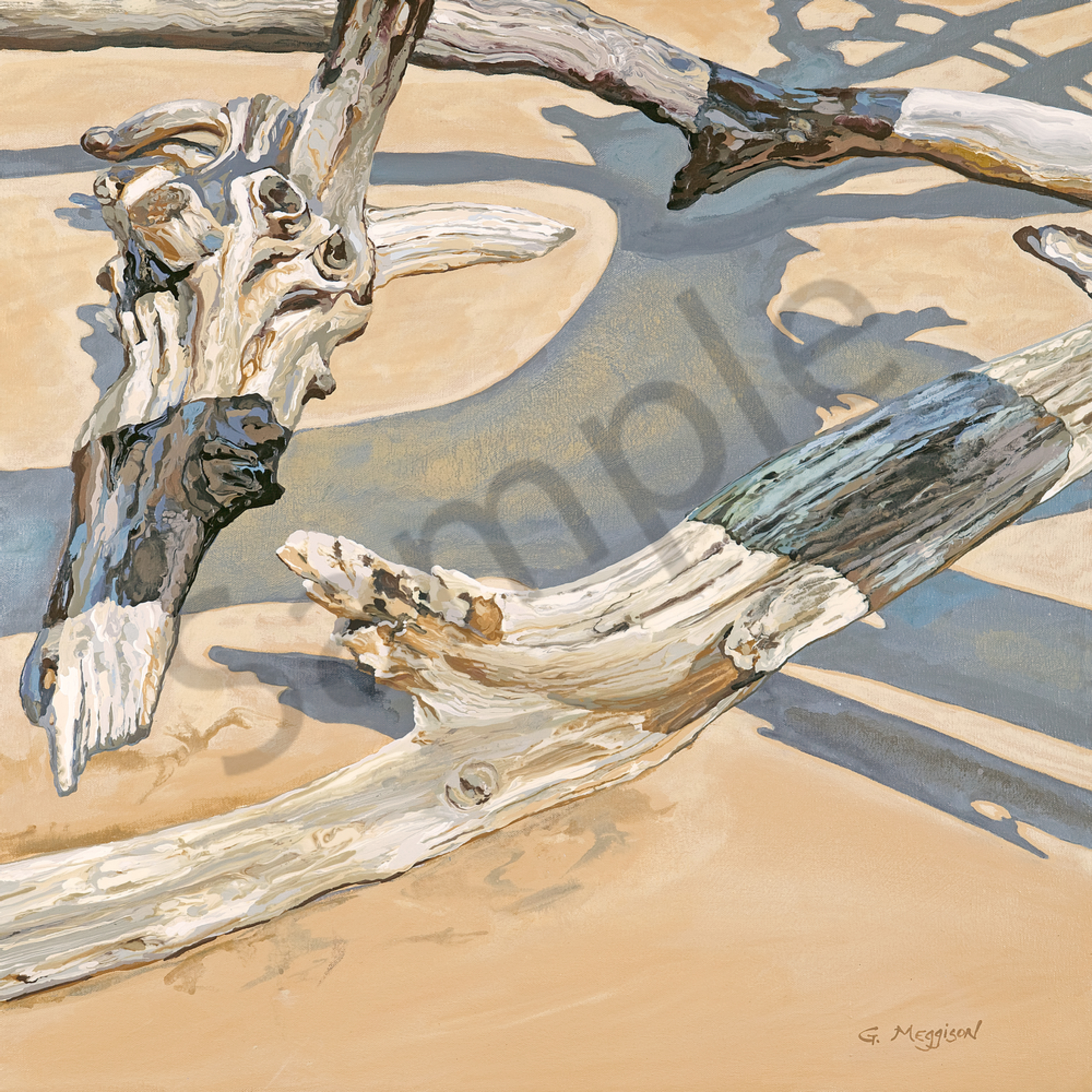 Water wind wood 4 24 x 24 print tvh9dc