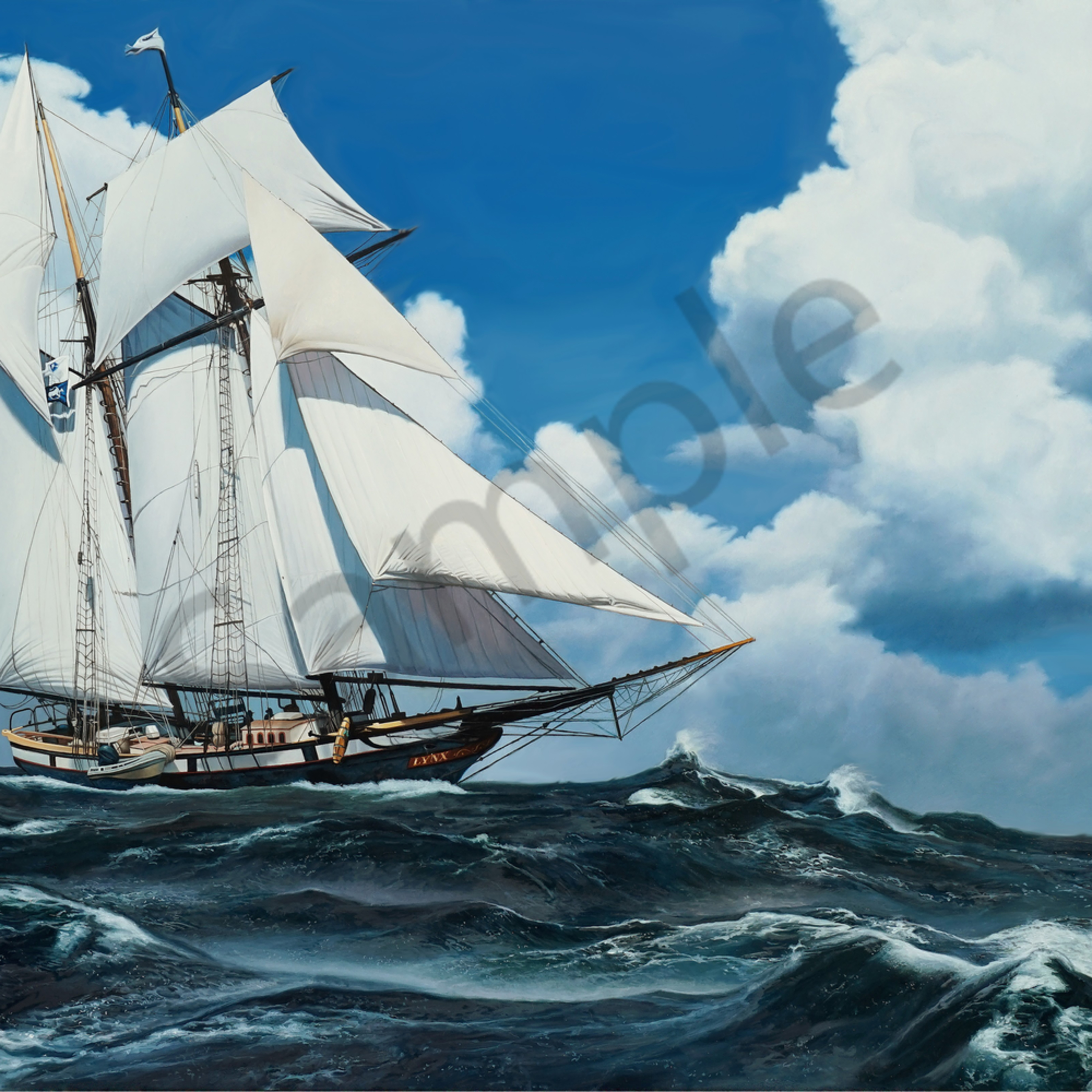 Schooner racing the storm 24x36 print file zjyqqv