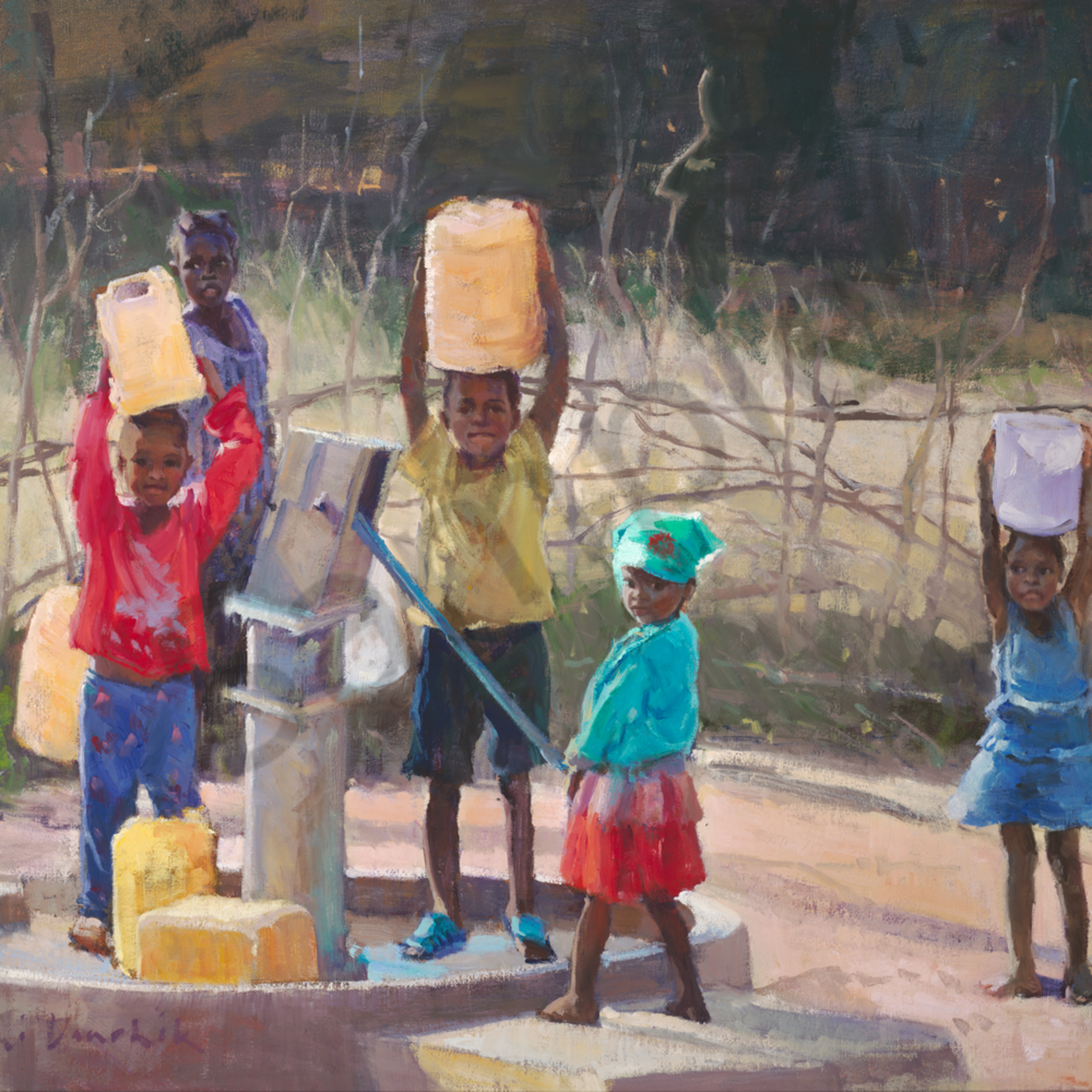 Danchik 2 3 7 17 give the children water 24 x 30 asf fgplna