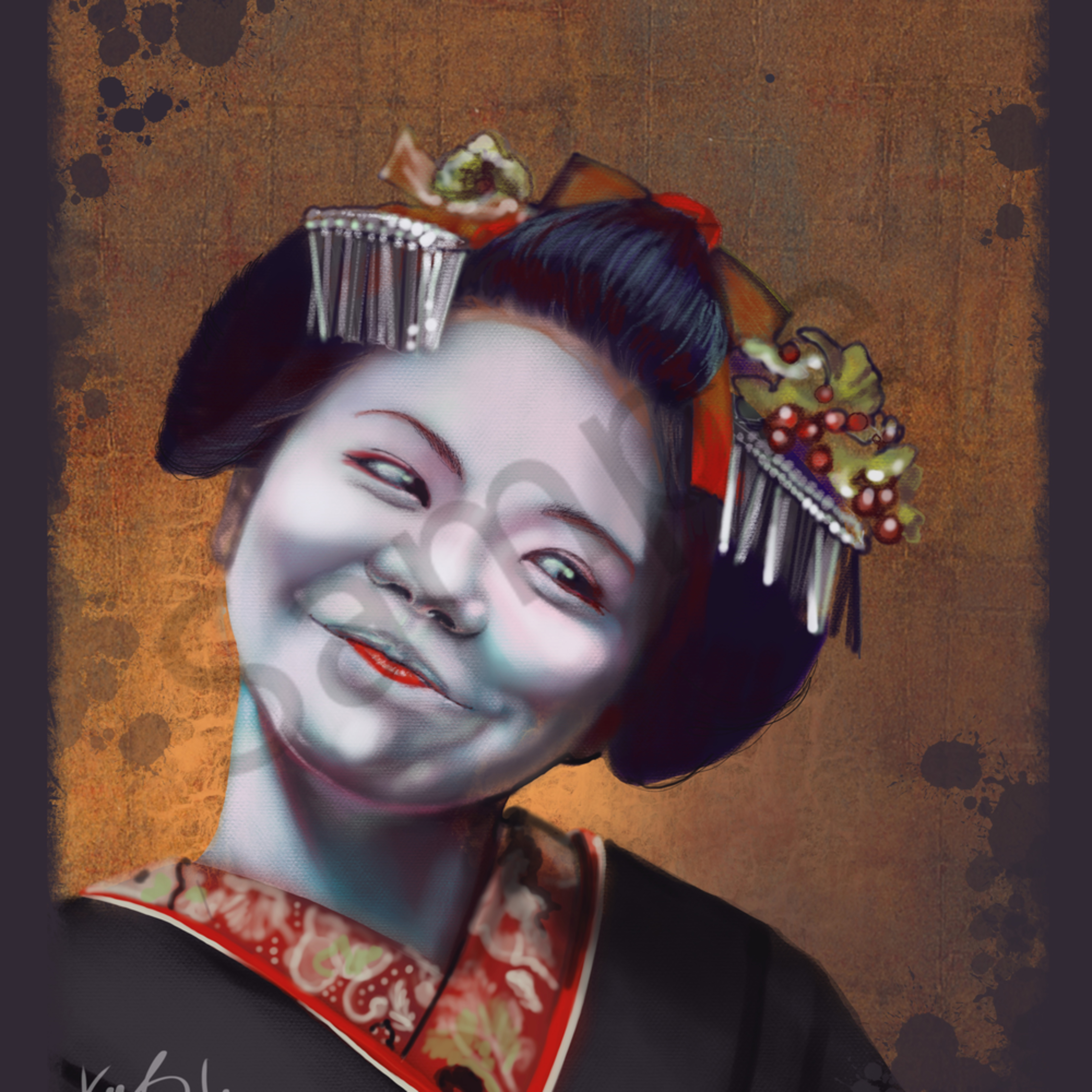 Geisha 24x30 qxdf5z