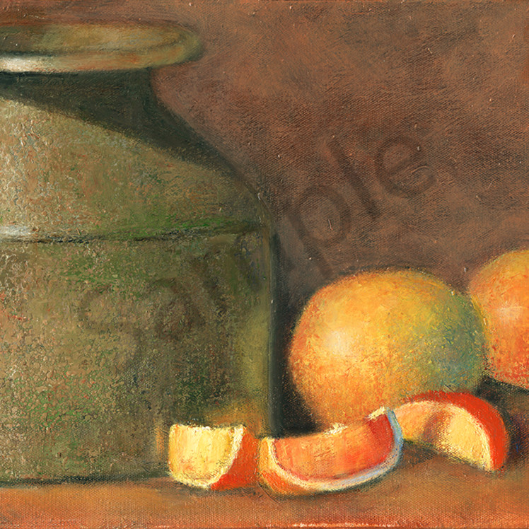 A stone crock and grapefruit bmvyy5