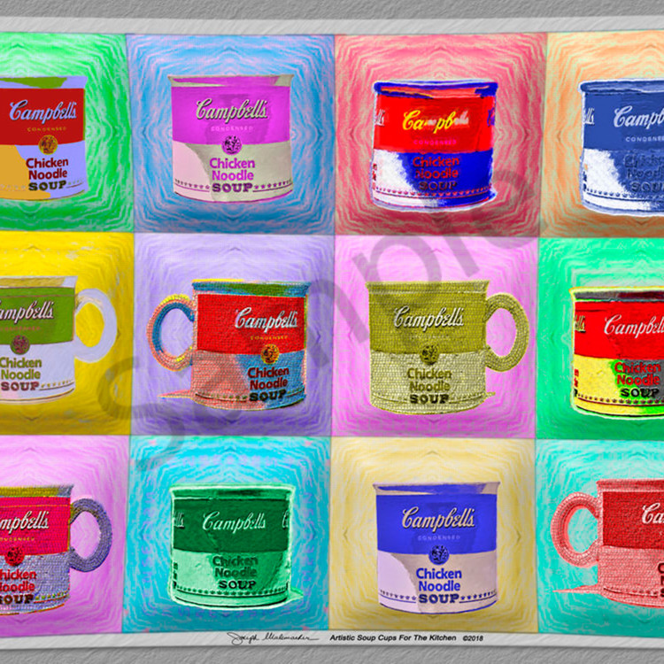 Many colored soup cups ldzjgg
