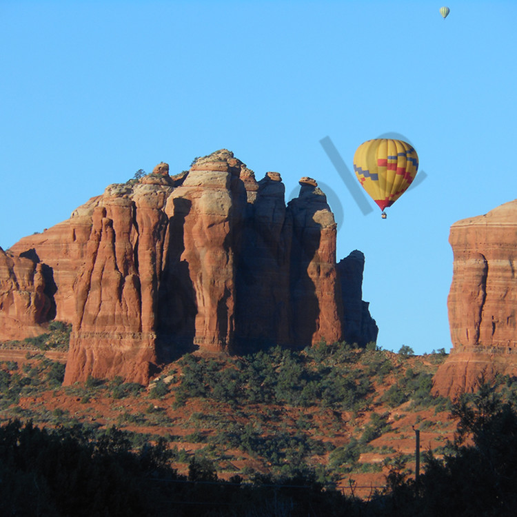 Cathedral rock balloon aslper