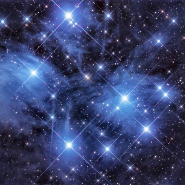 Pleiades open star cluster xo1imb