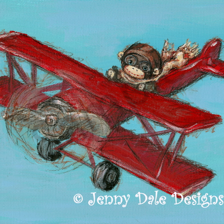 Sock monkey airplane cqyurc