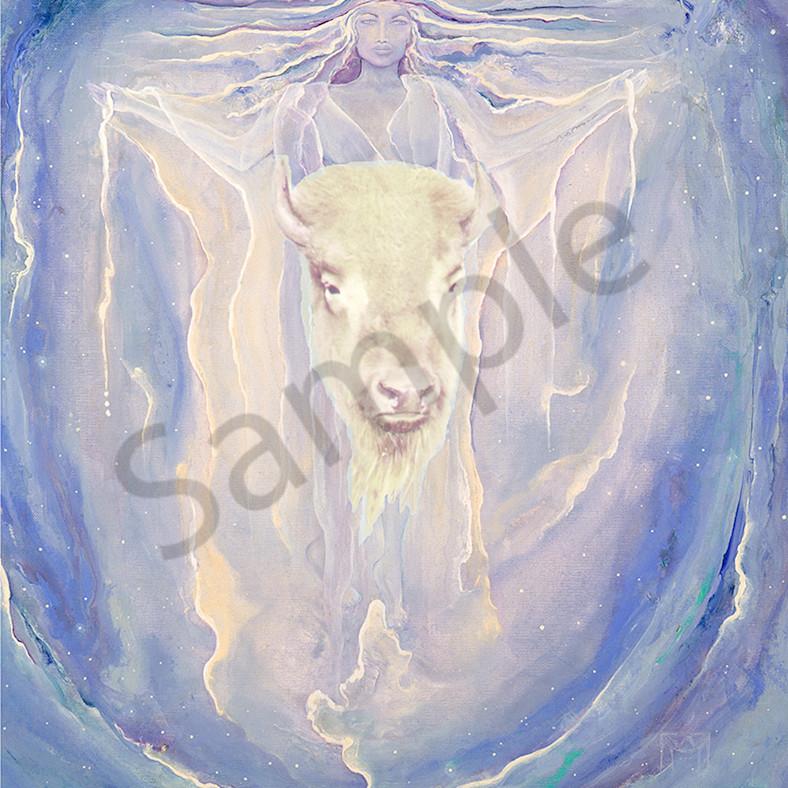 White calf buffalo woman pg5kjh