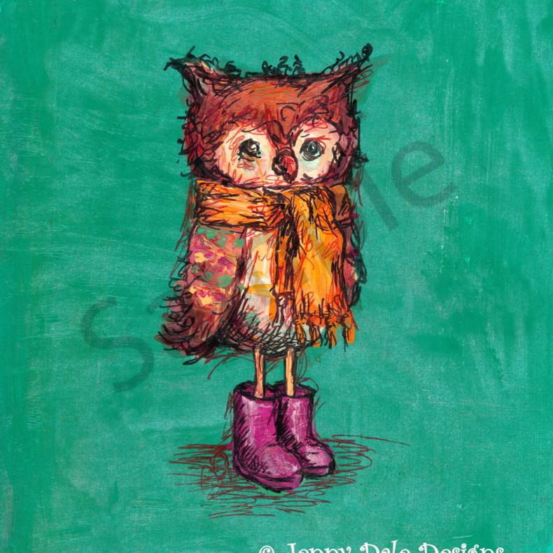 Owl boots girl qdg2rn