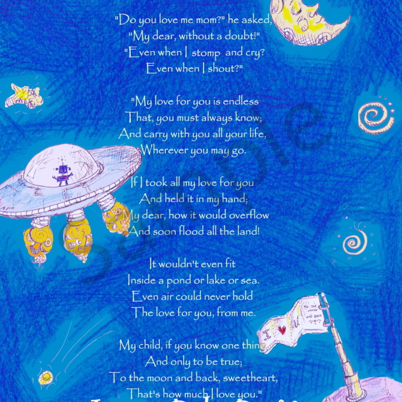 Outer space with poem   cool tone rjsewl