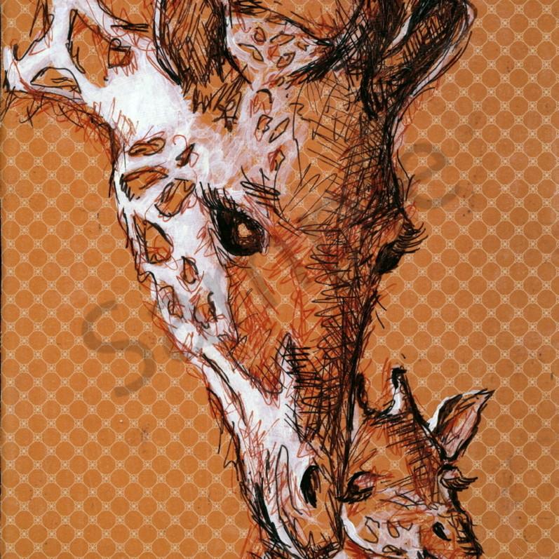 Giraffe mom and baby kkmlmk