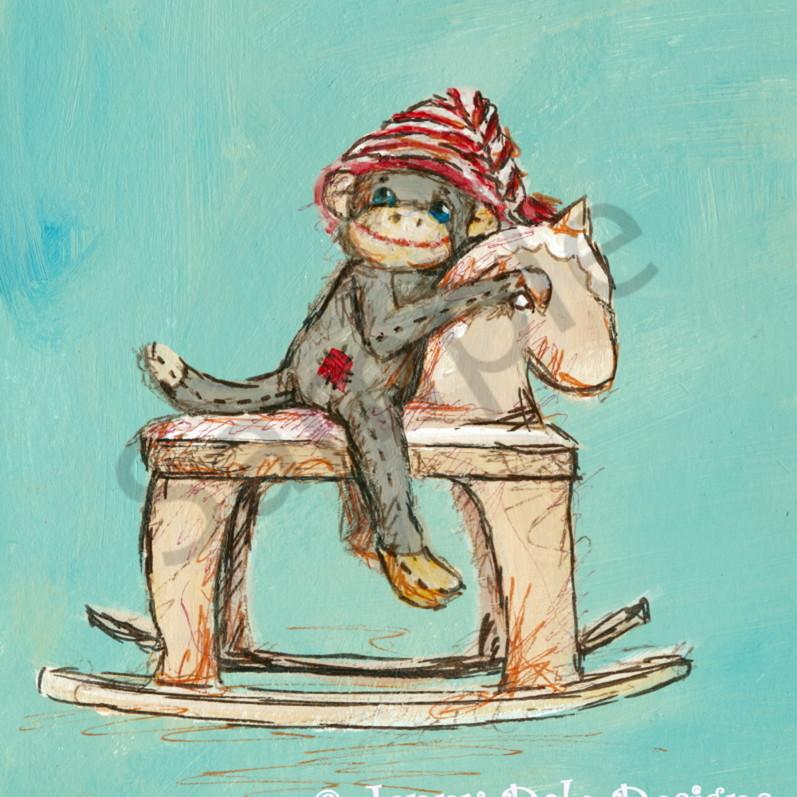Sock monkey horse2 zjrbnx