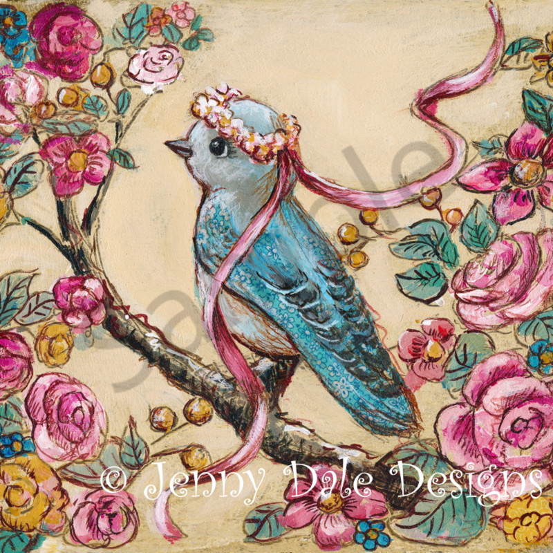 Sample floral bluebird lnyjdu