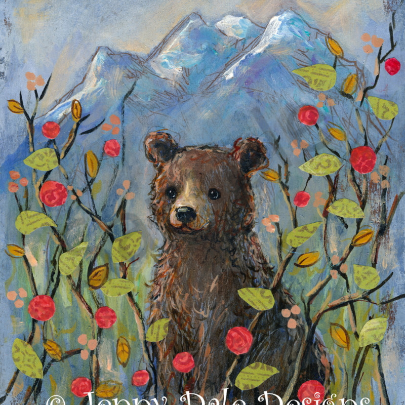 Sample bear in mountains hjspzc