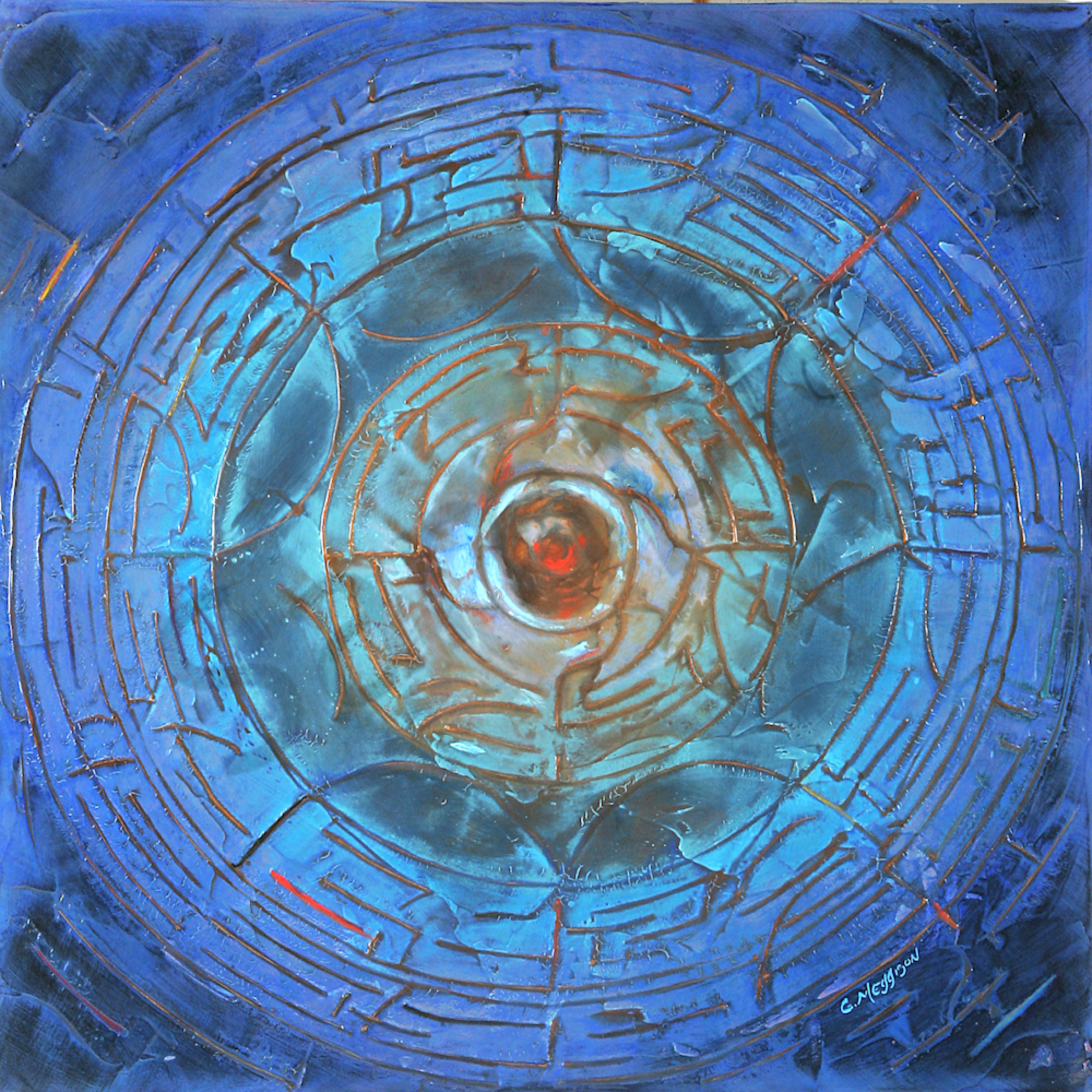 Wheel of life 36 x36 acryl mixd med g. meggison iv qub56v