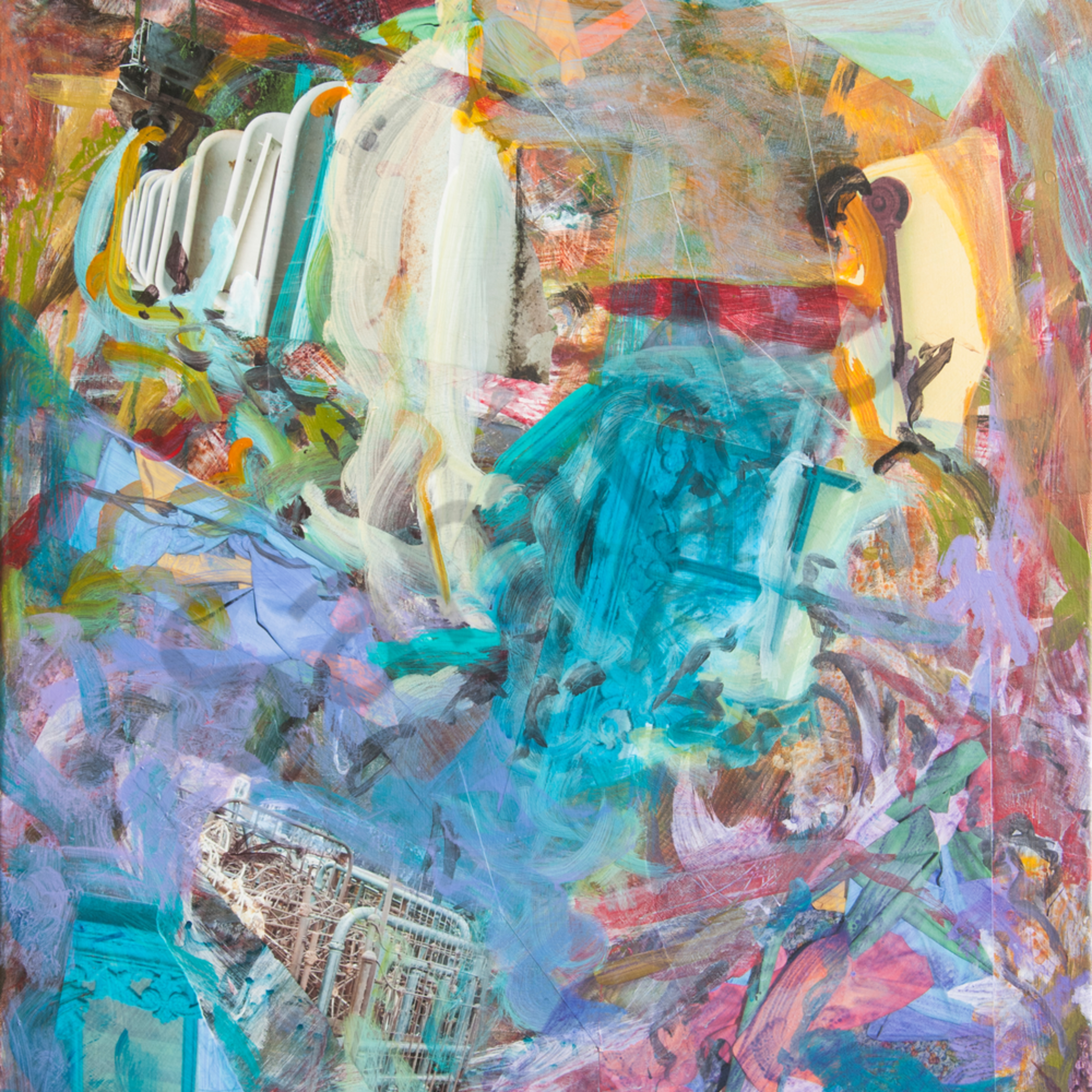 Waterfall in the bedroom 48x38 sgadyd