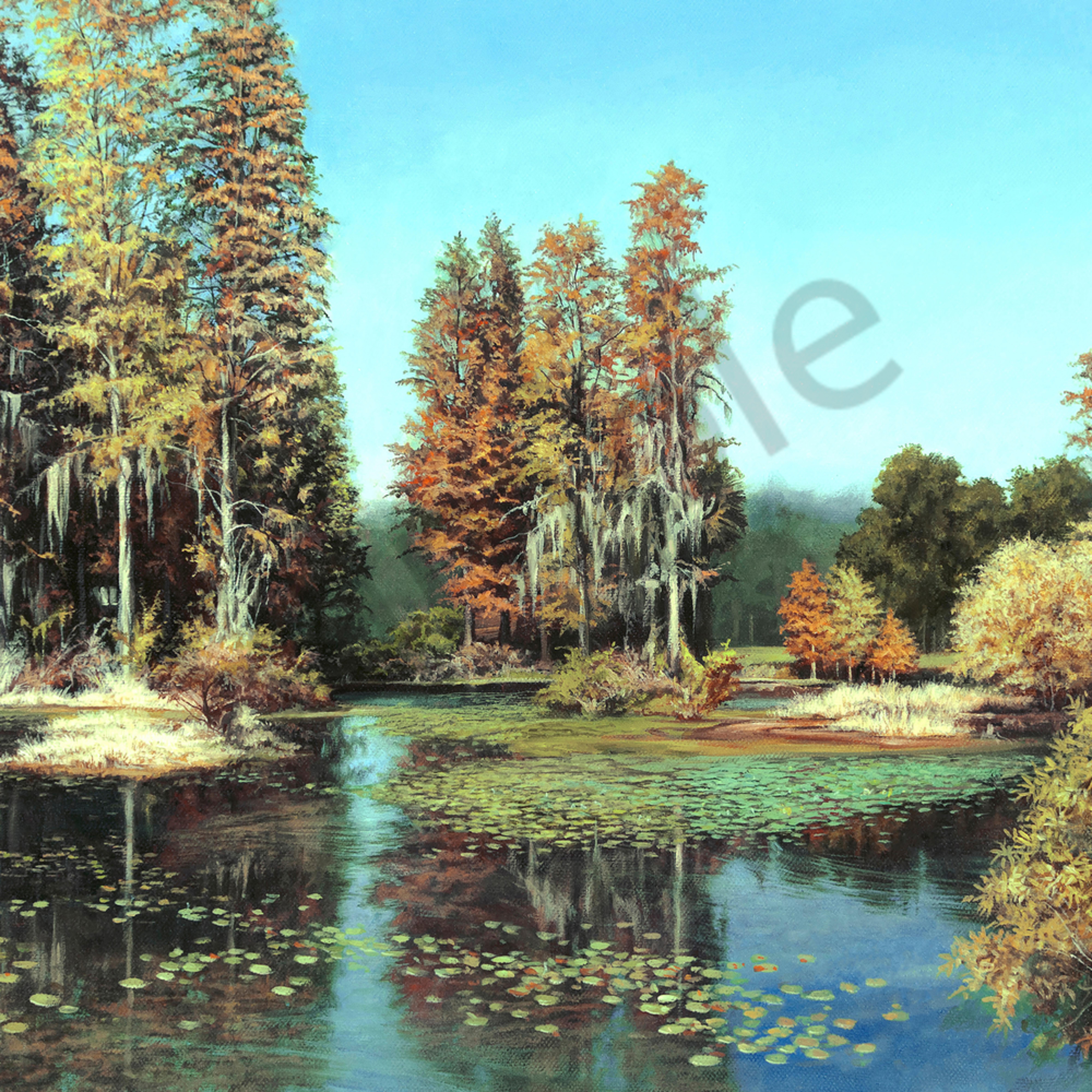Autumn pond print file oj4djw