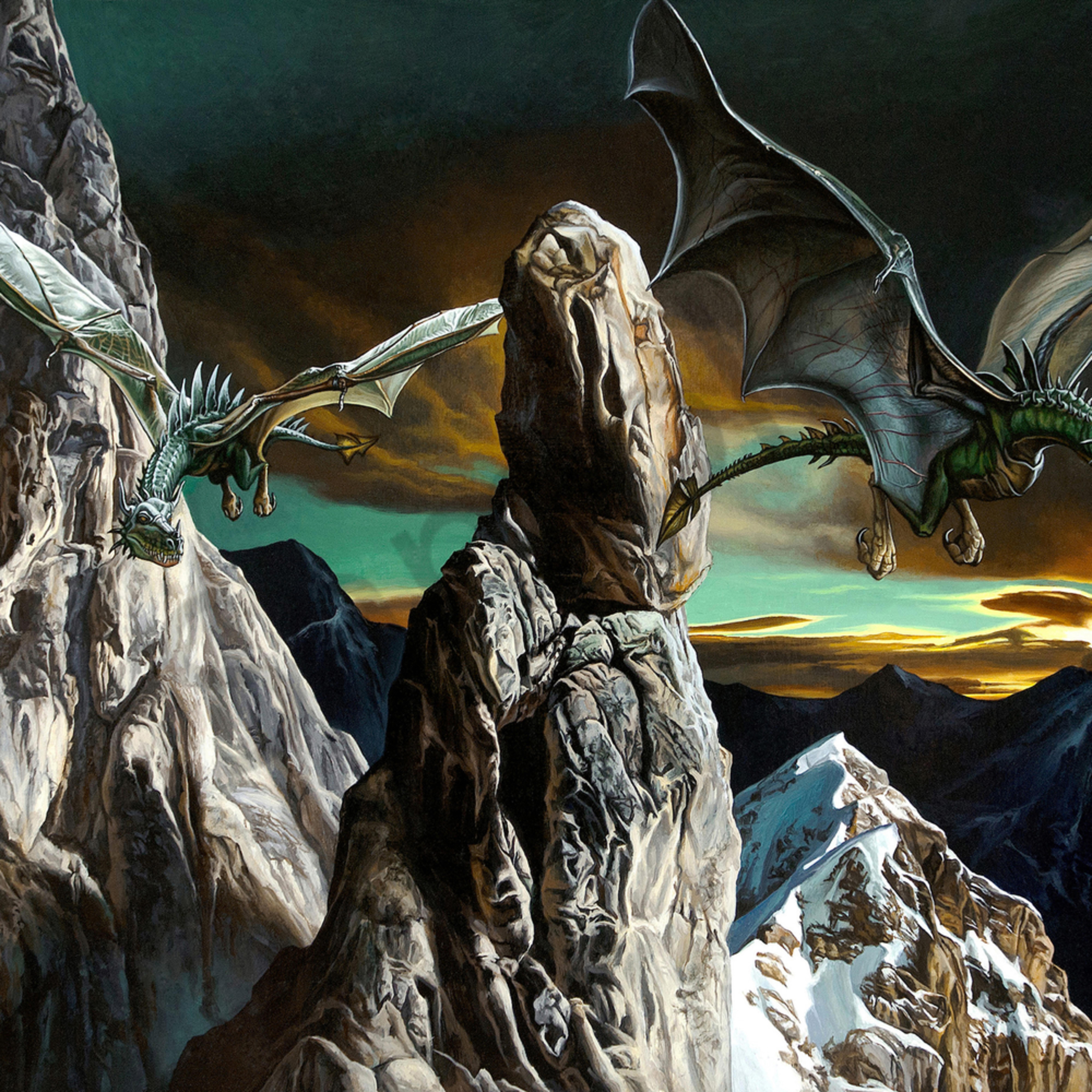 Dragons in flight print file umoqjm