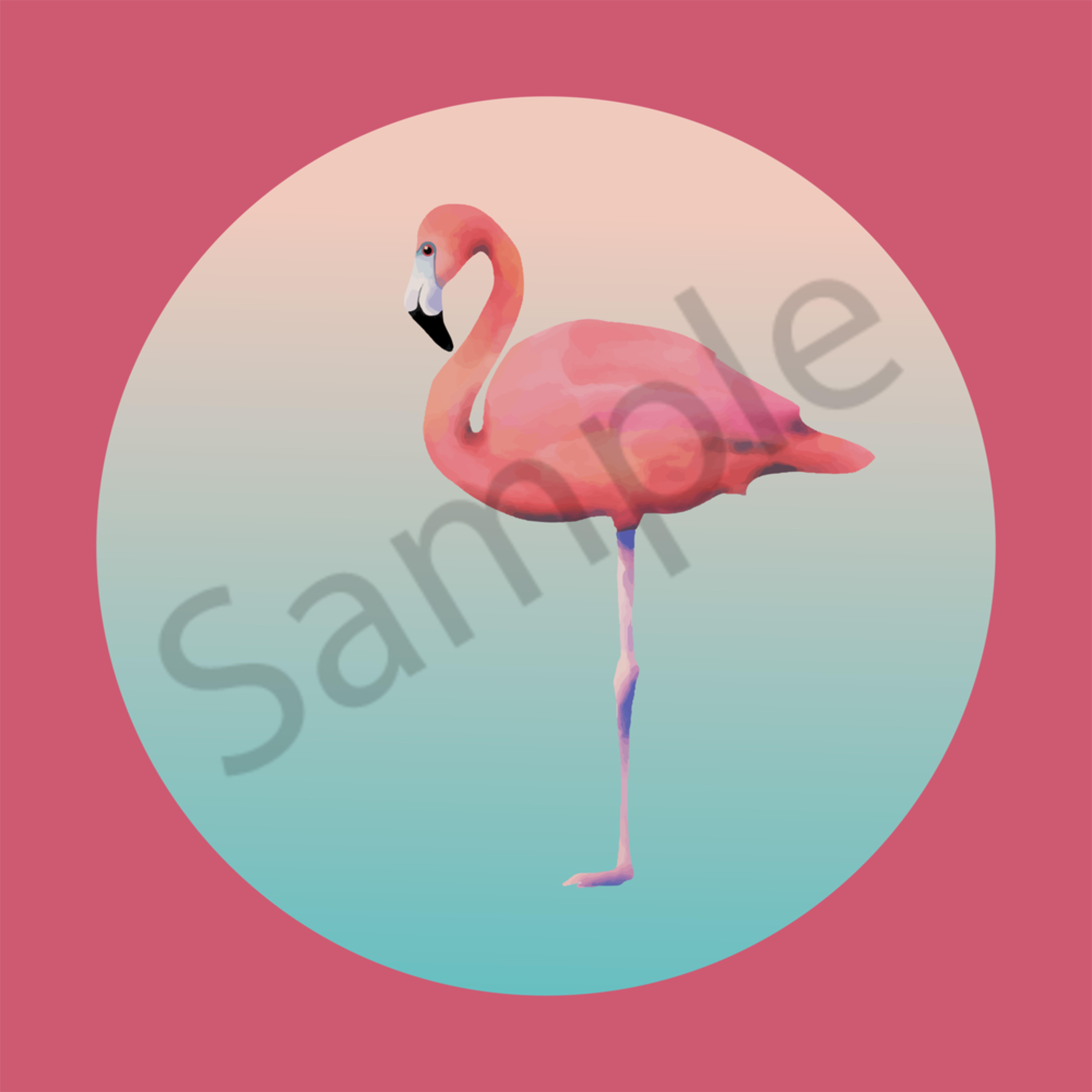 Flamingo to print 03 odjouh