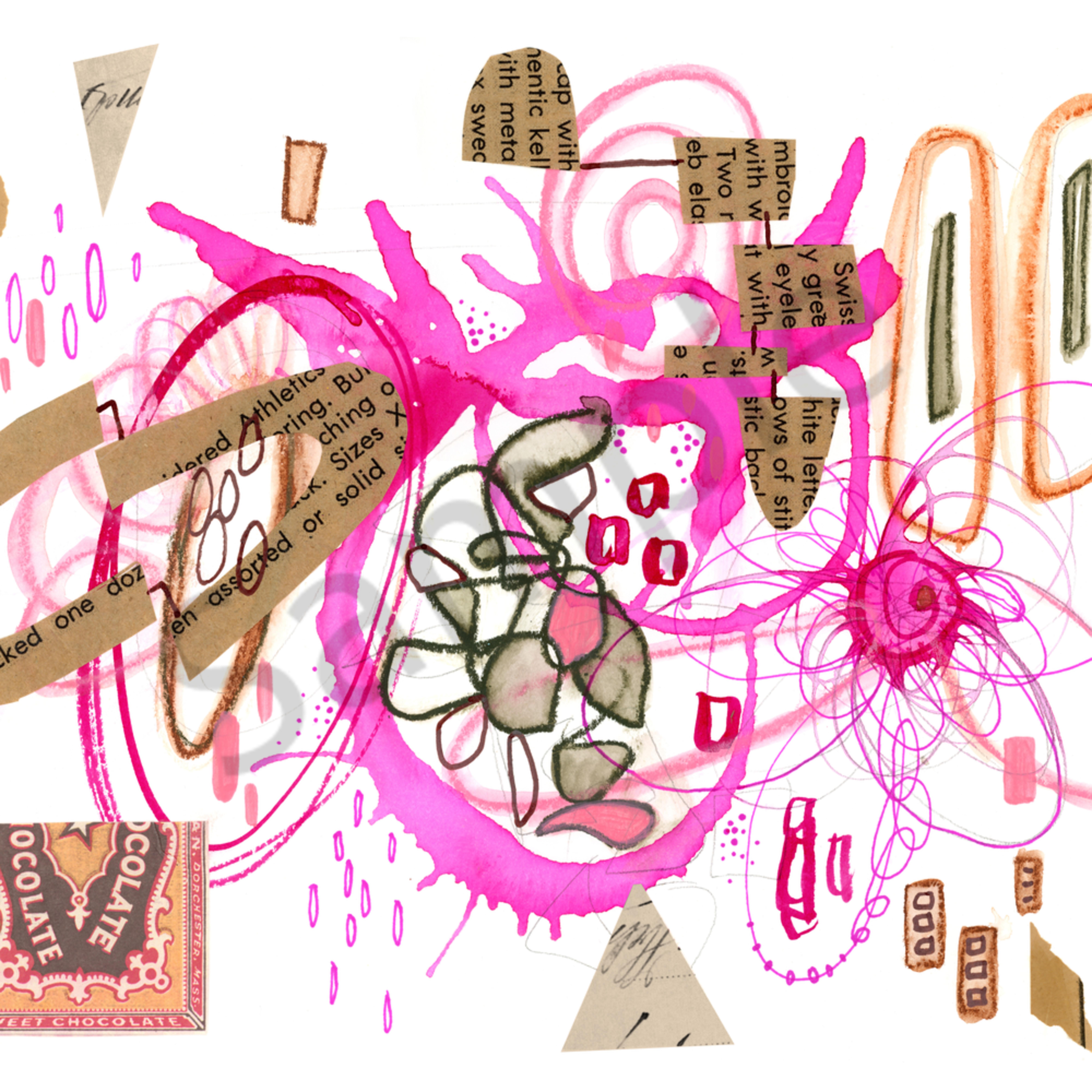 Abstract series1 pinkchoc 01 qmp757