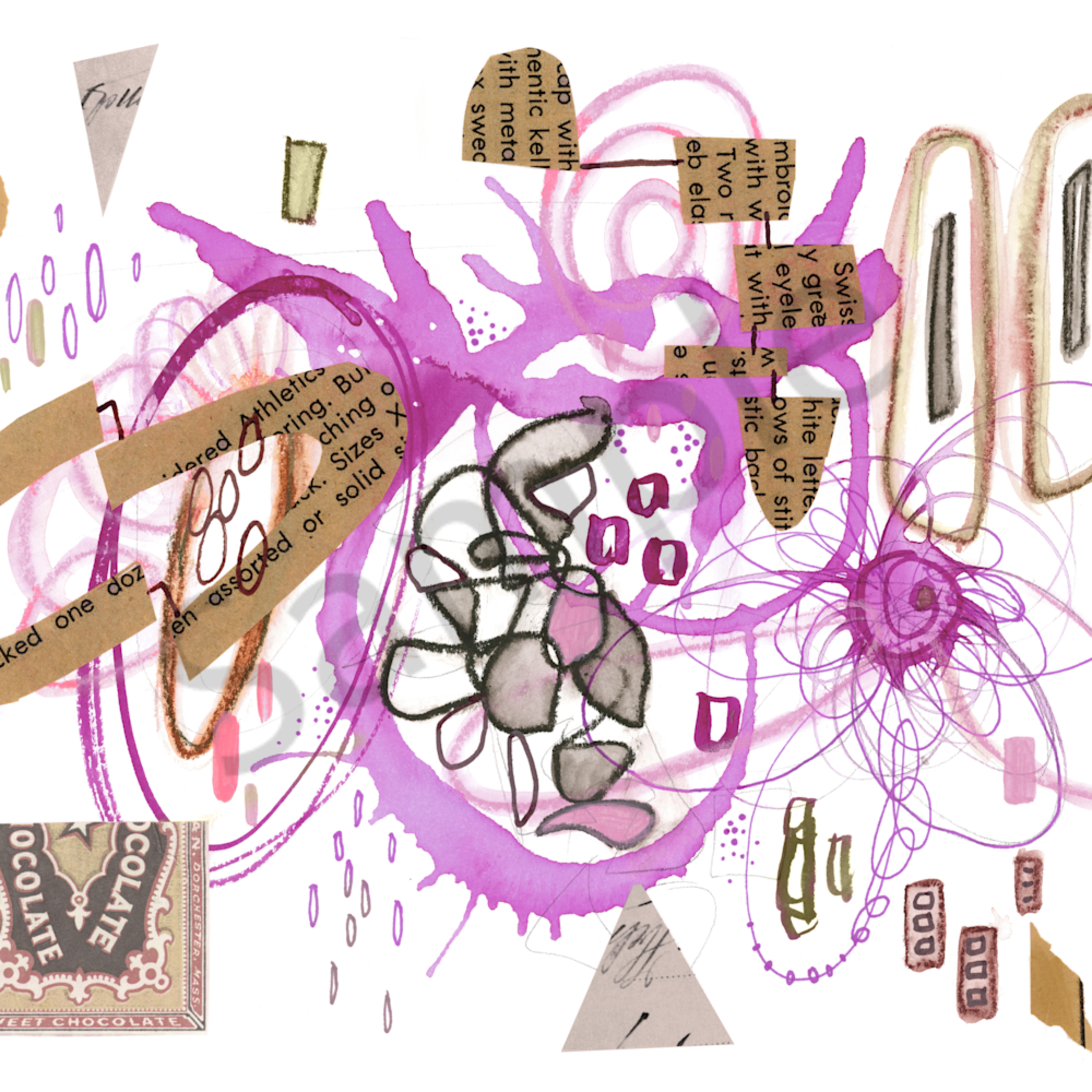 Abstract series1 pinkchoc 02 frplpm