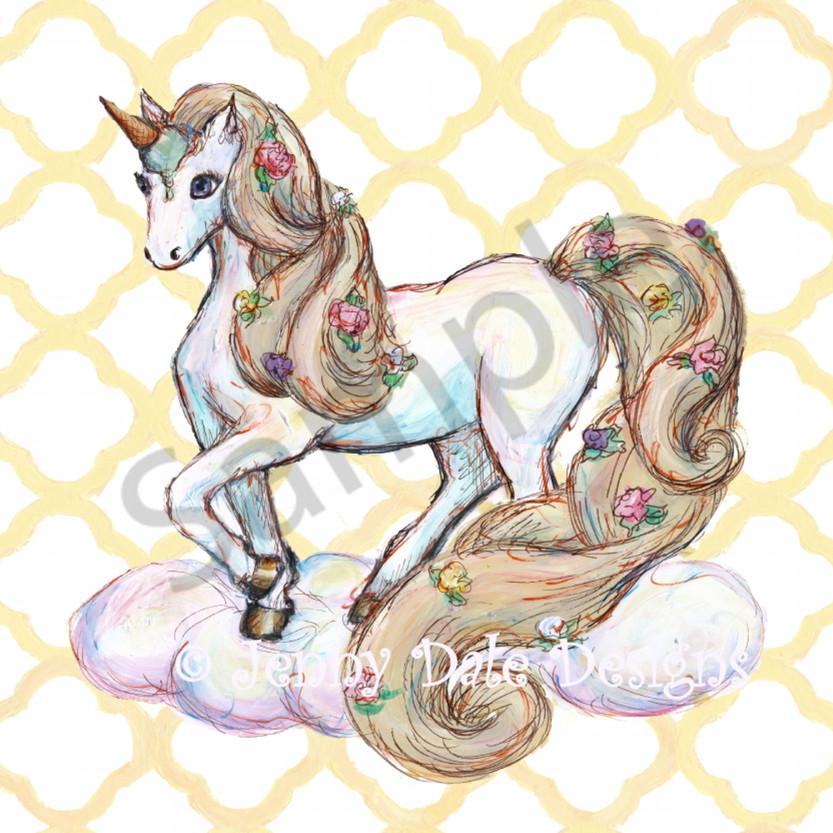 Unicorn standing yellow mhgqvf
