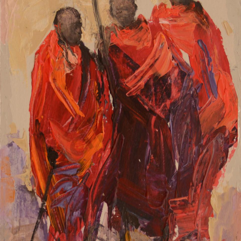 Three maasai warriors n0fnsk