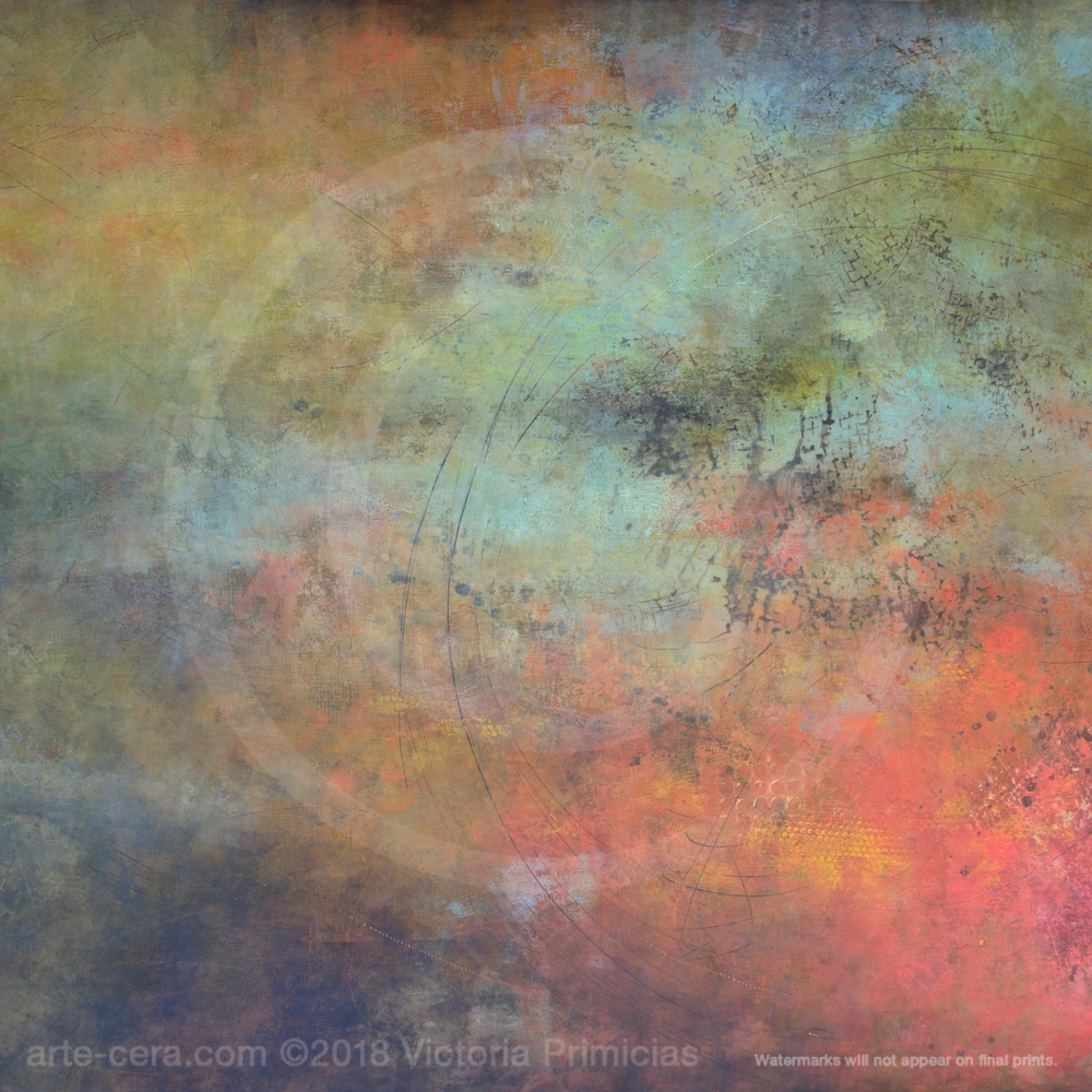 Abstract art images round rapport ivtvlh
