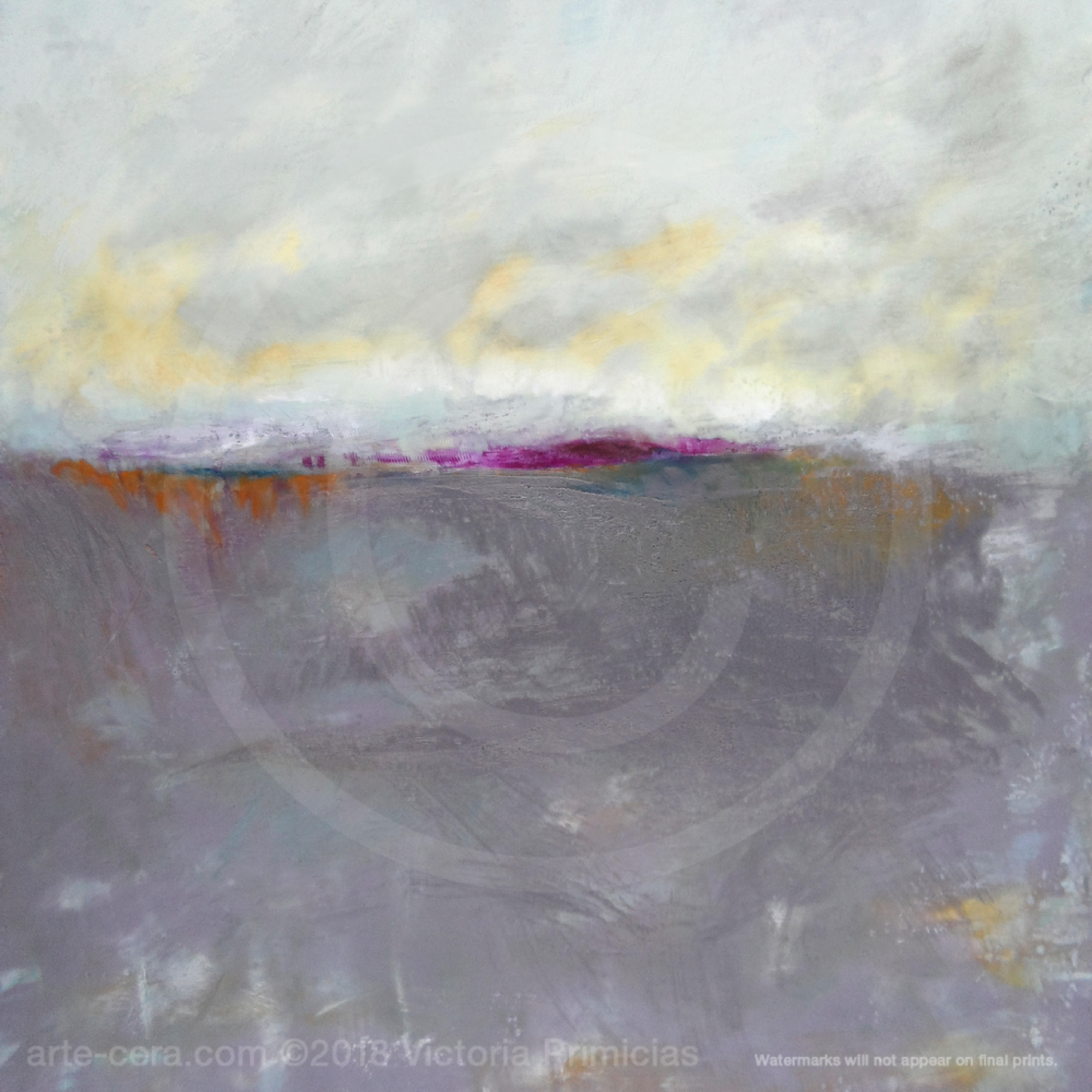 Purple wall art fog island jlfqph