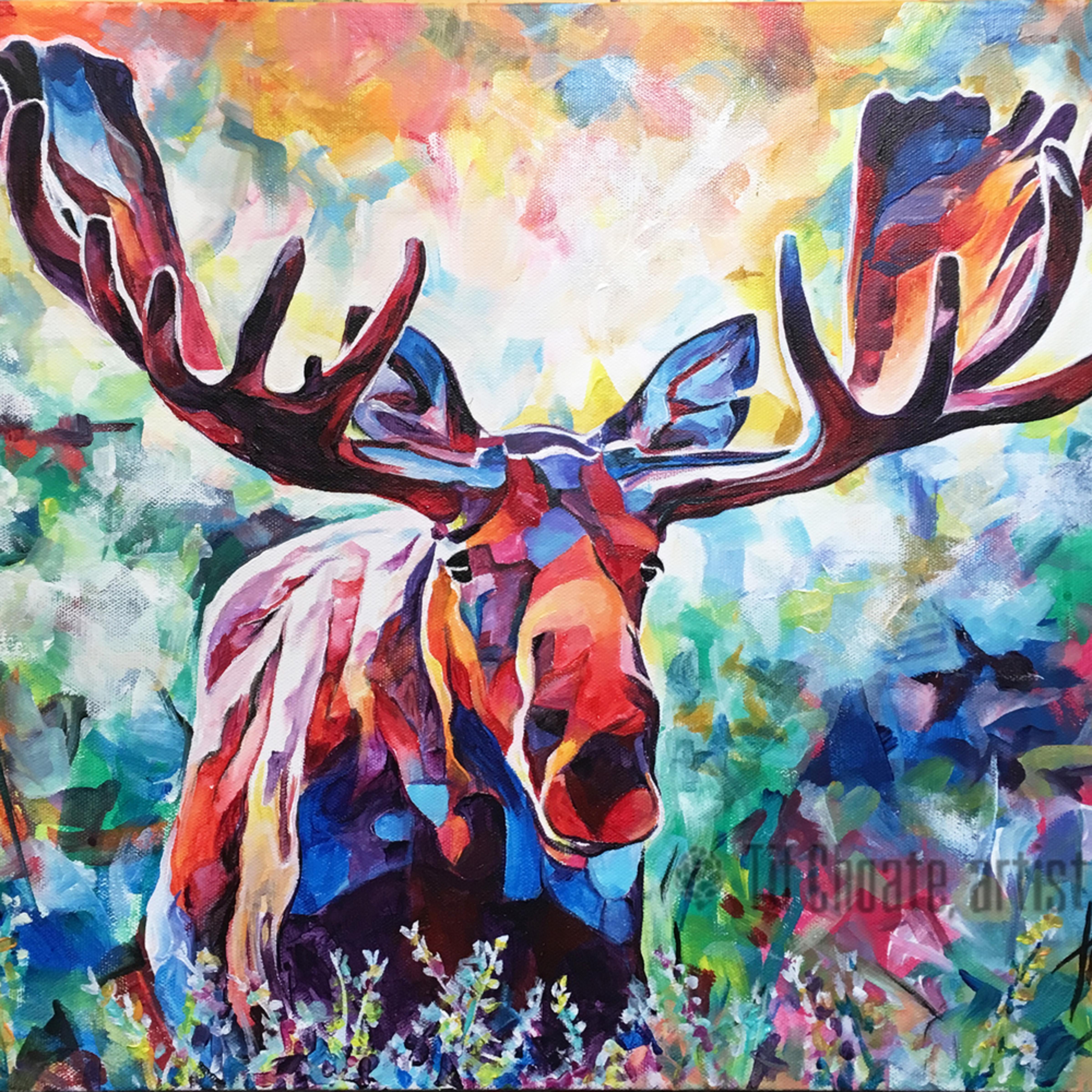 Grazing moose20x16 nbbi35