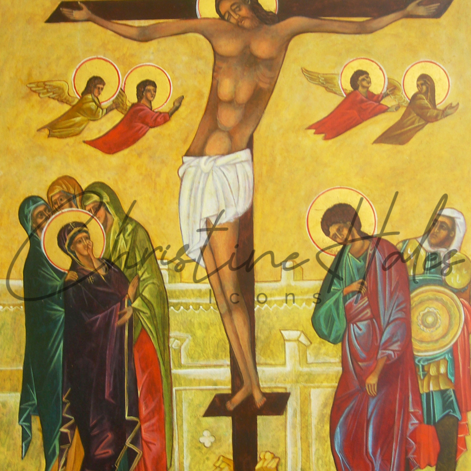 Crucifixion icon c. hales kqmqco