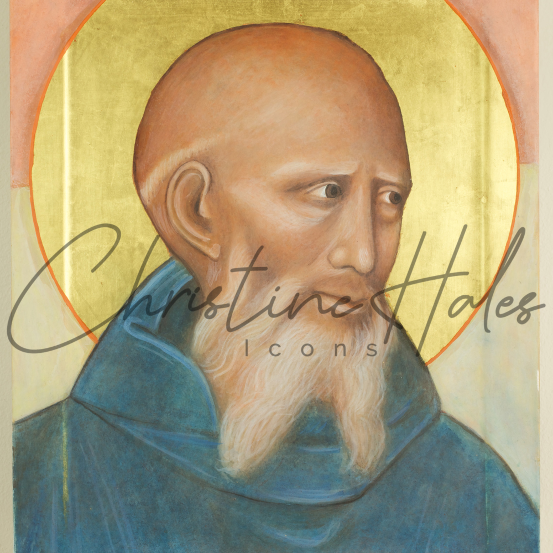 Saint benedict icon c. hales qkint3