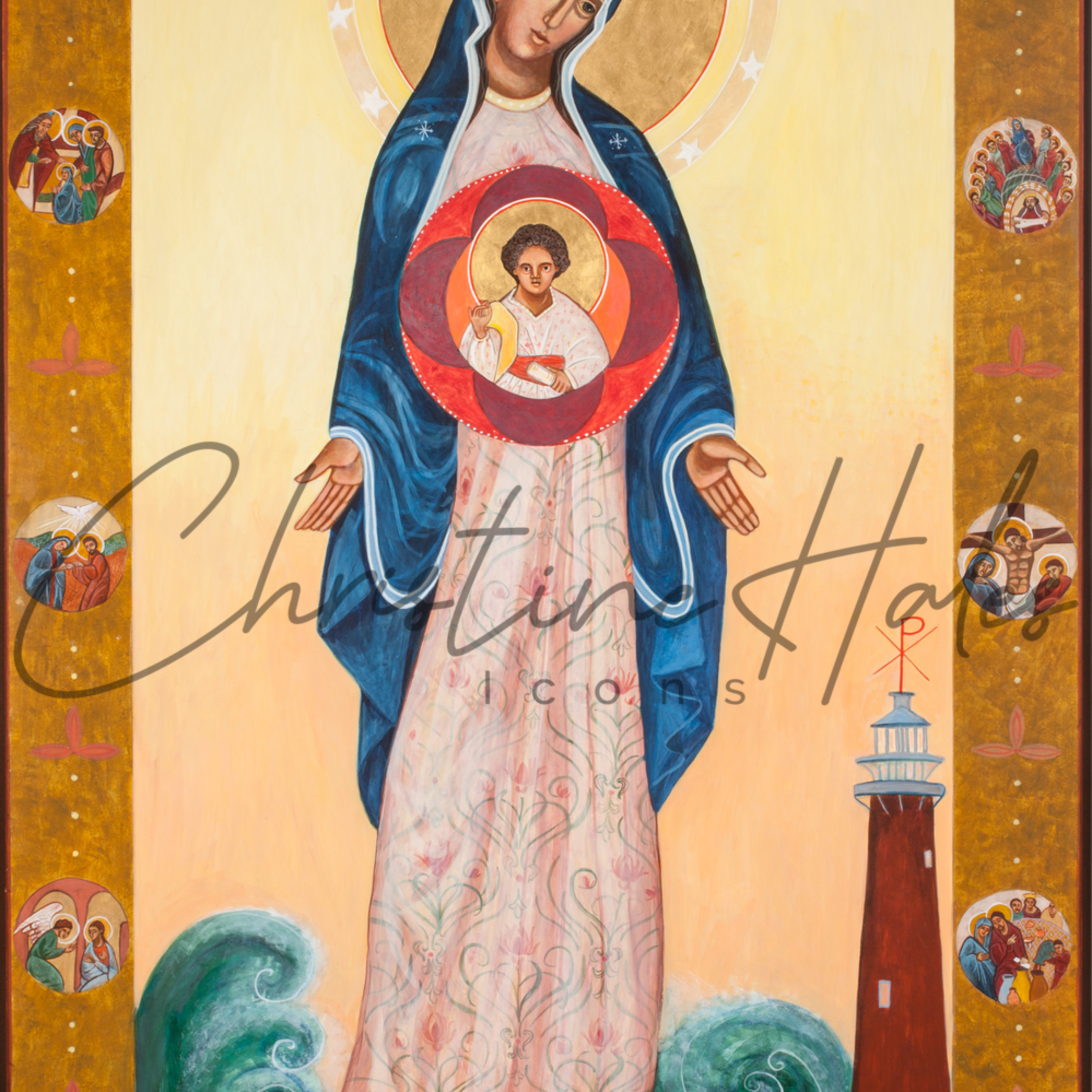 Our lady of light icon c. hales rgjxwg