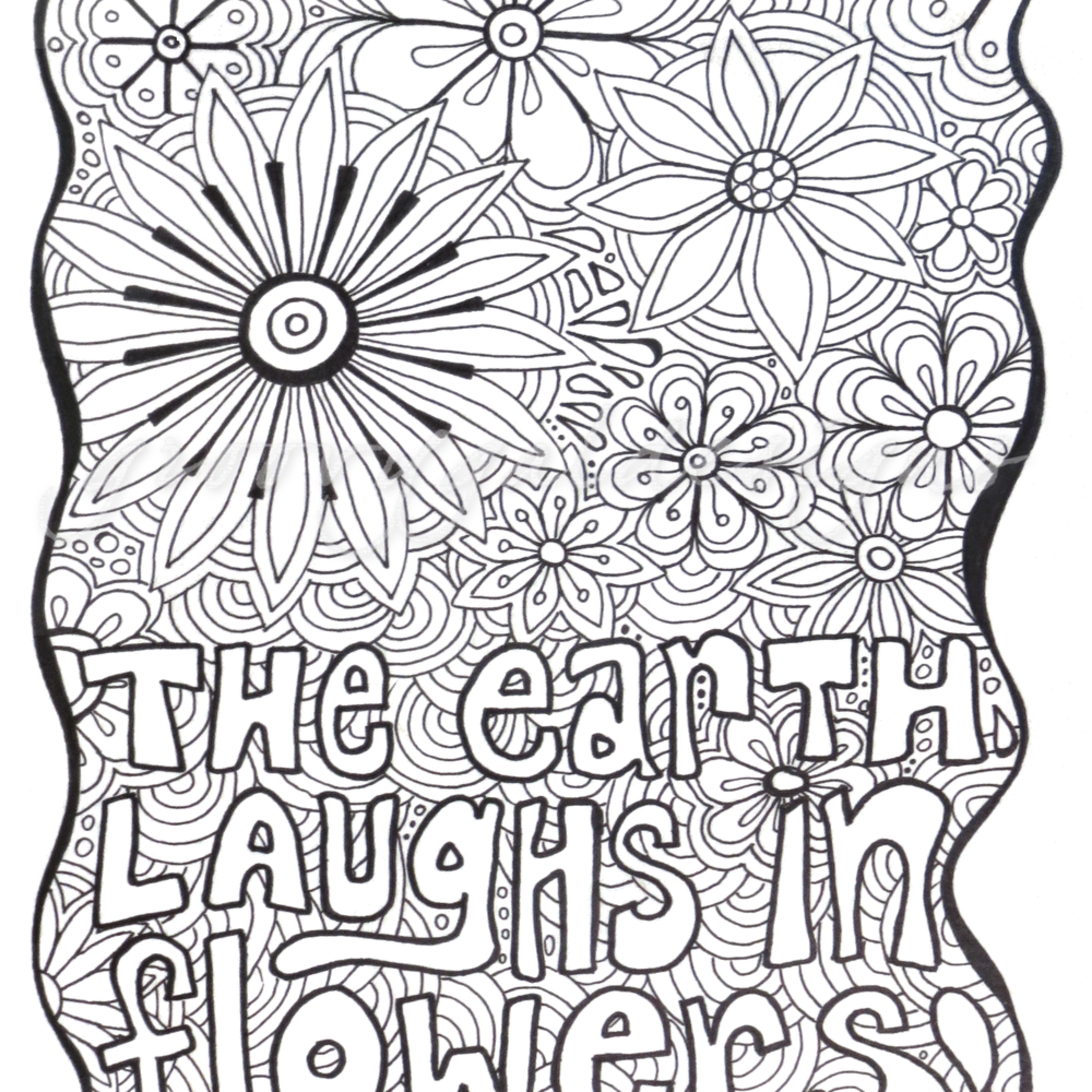 Earth laughs in flowers color it ao8nmd