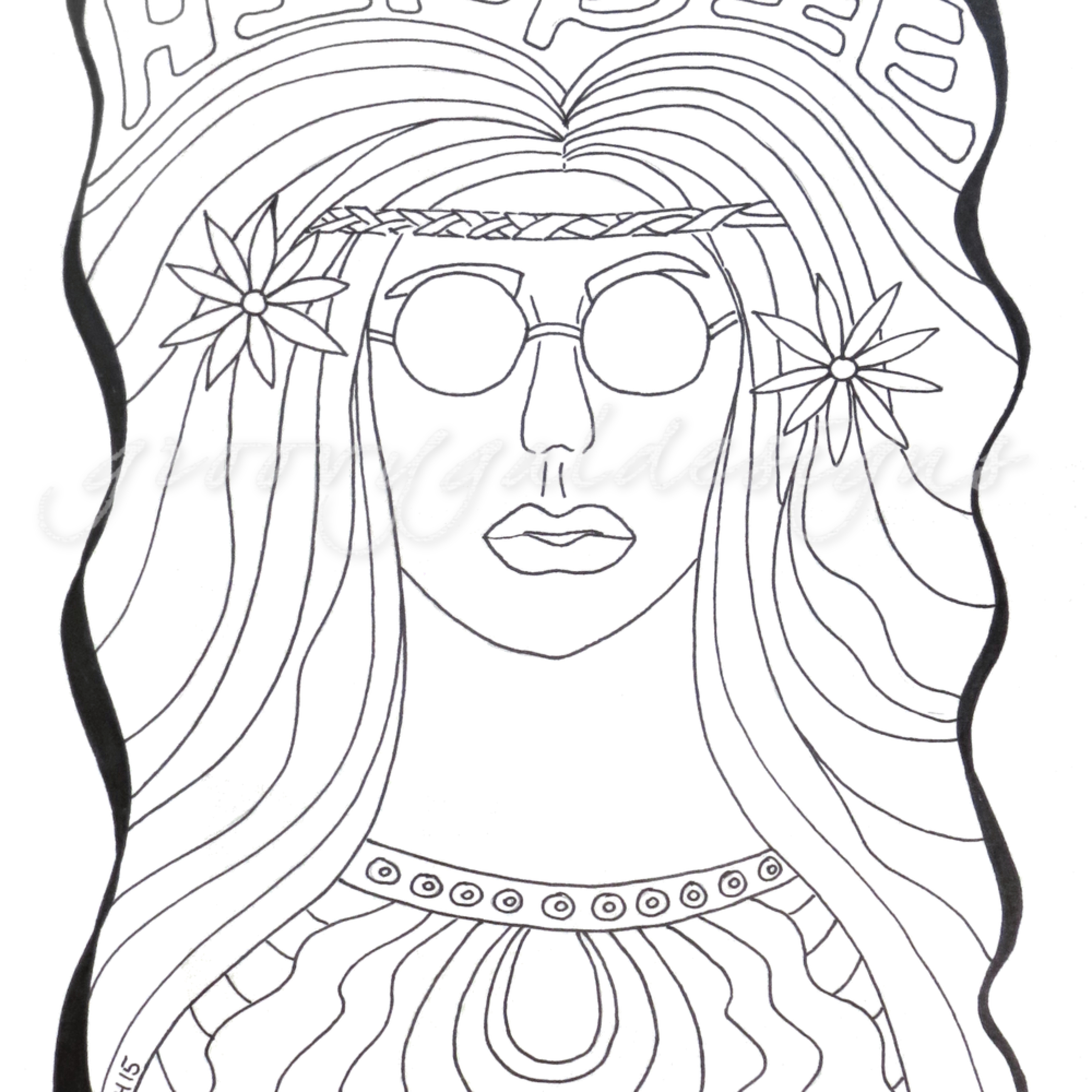 Hippie chick color it pdvthl