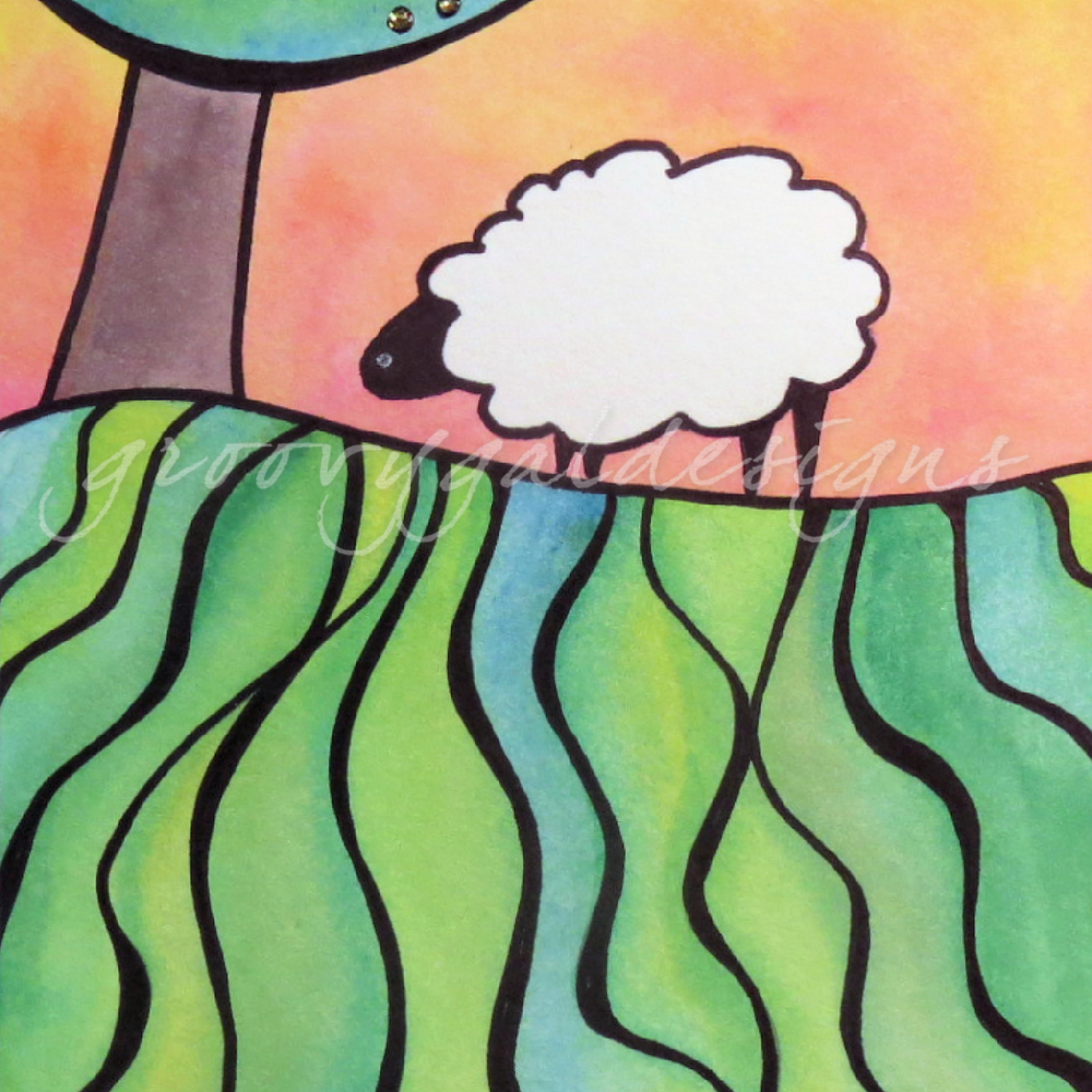 Sheep on a hill 4 puz7wf