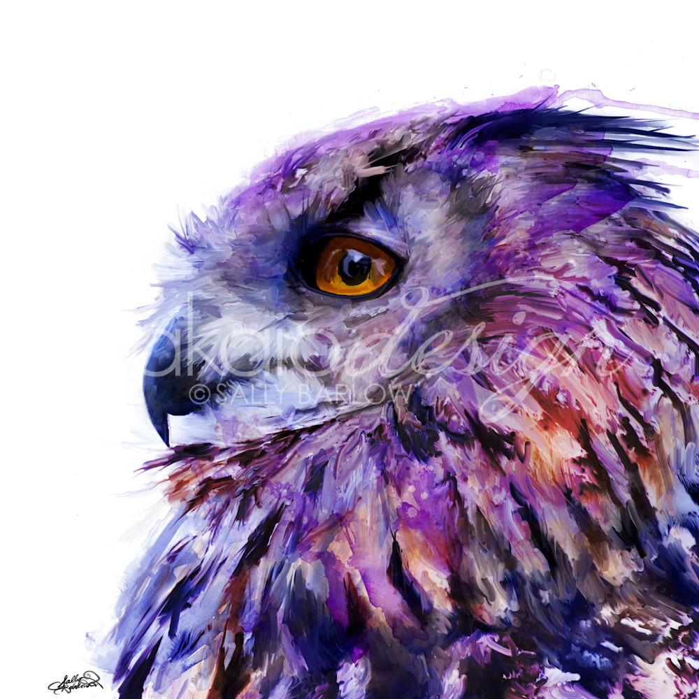 Eurasianowlpainting purplesq tnmr9l