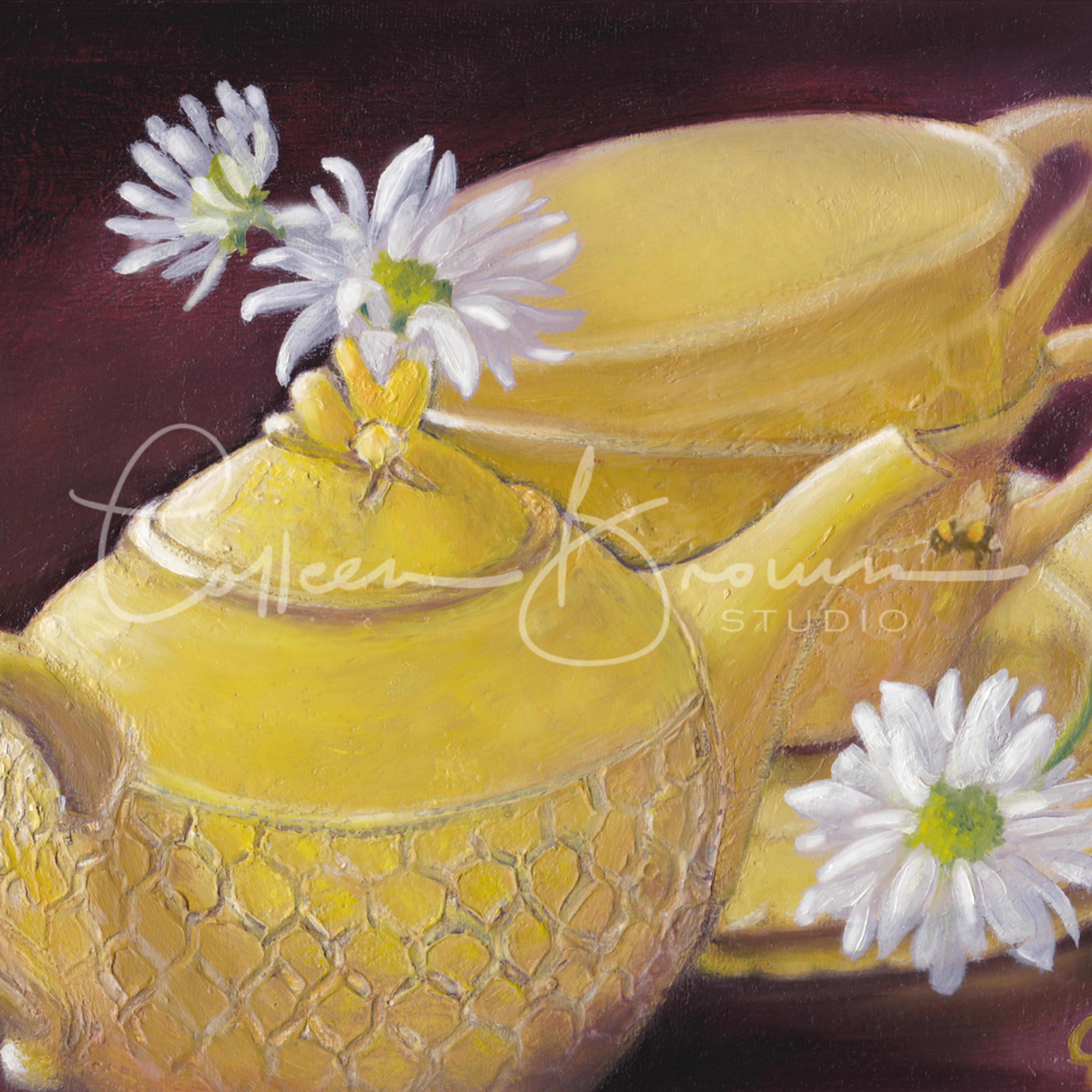 Honey bee daisies corrected print hxdtxa