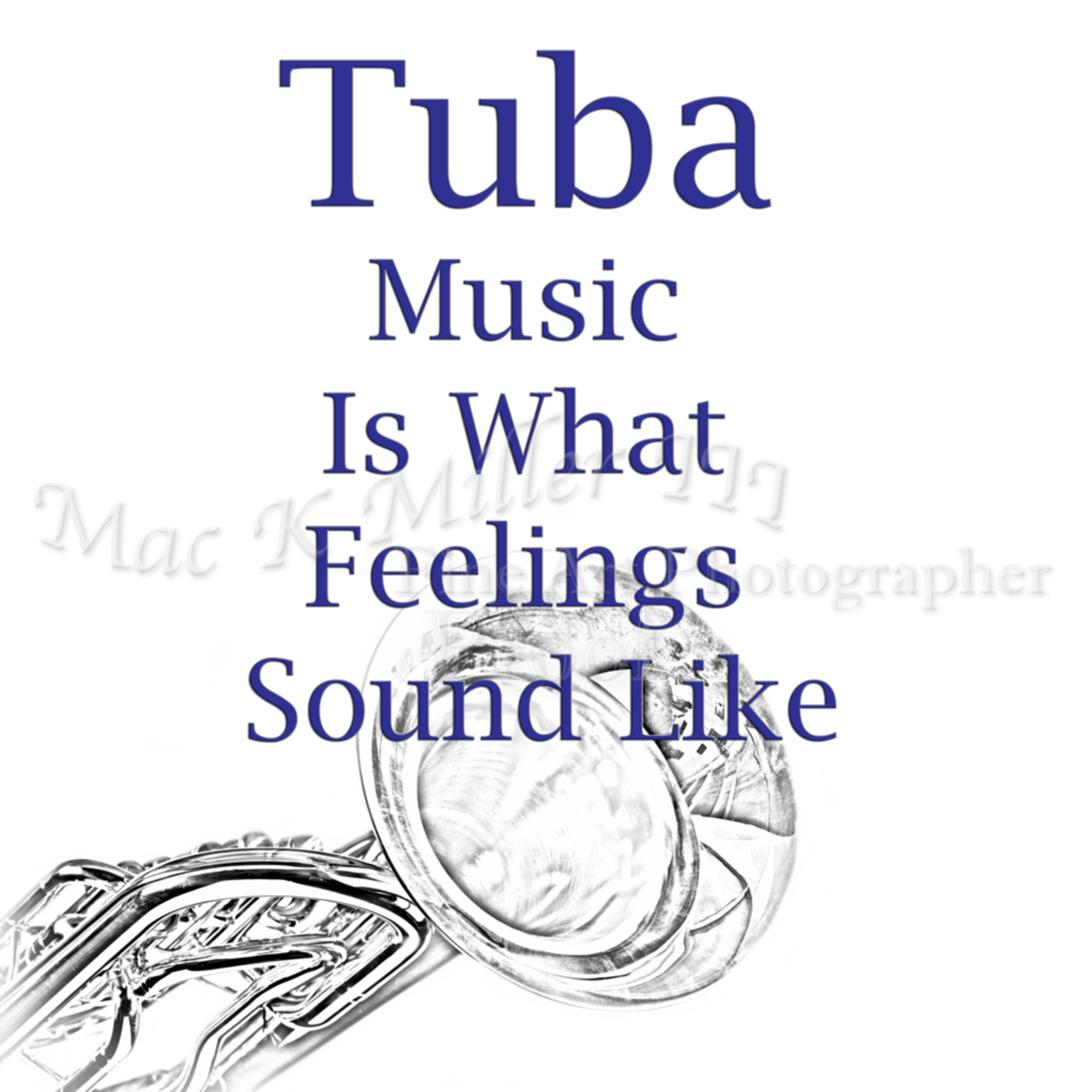 Tuba is what feelings sound like music art 5586.02 nwtdmm