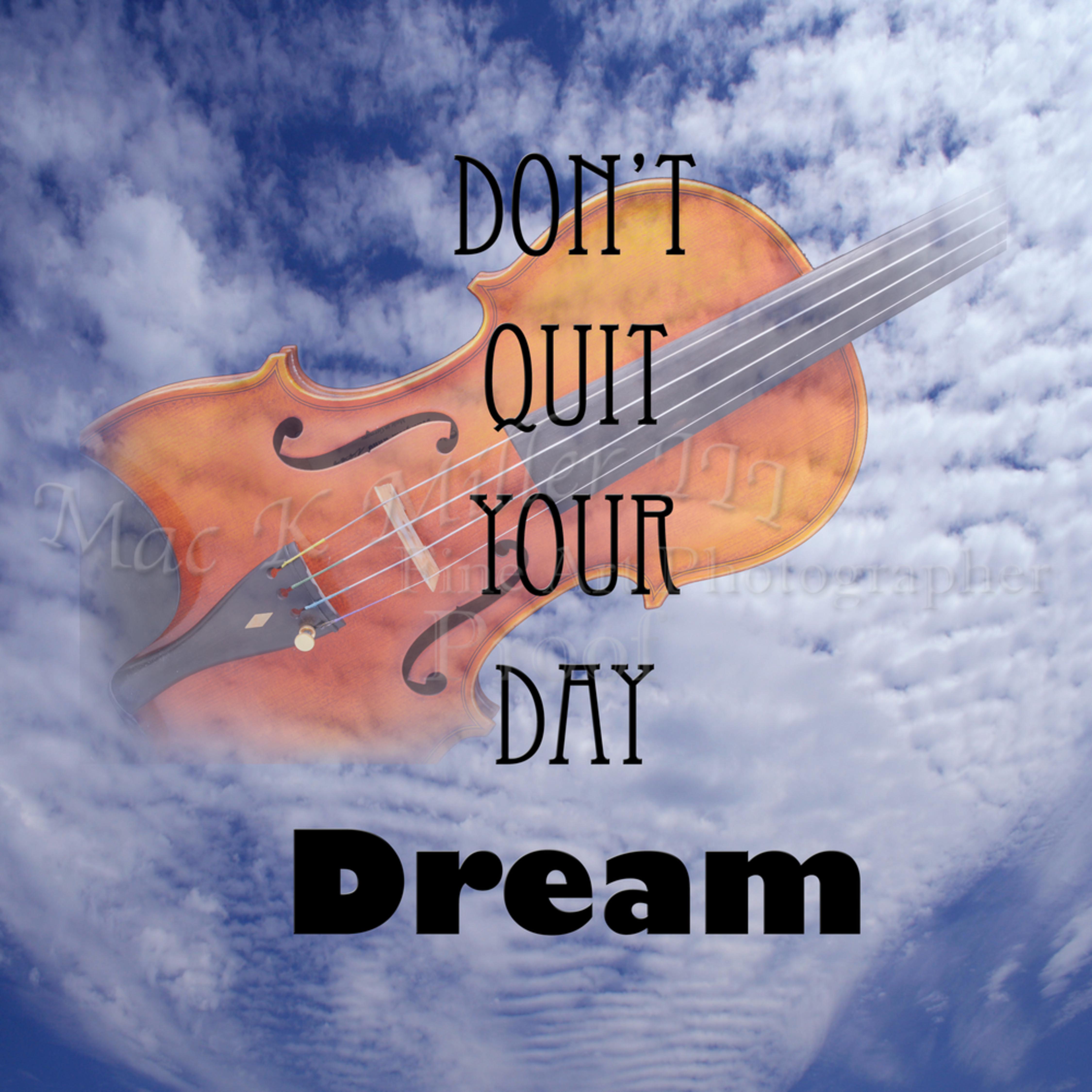 Do not quit your day dream violin wall art 5010.702 yywjqx