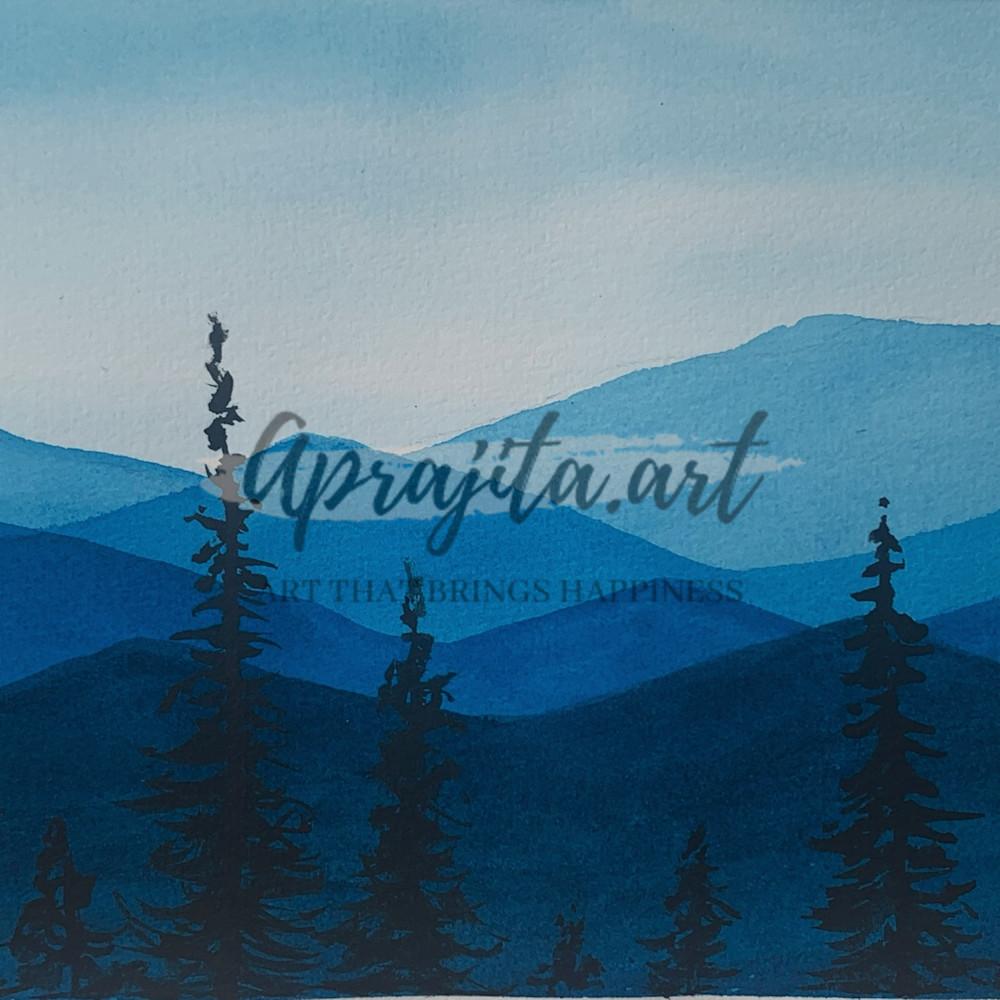 Blue hills print b2up2z