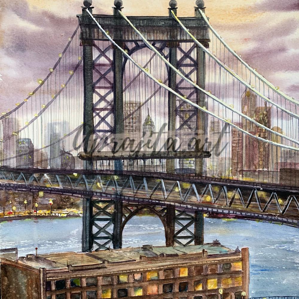 The brooklyn bridge print fedxdn
